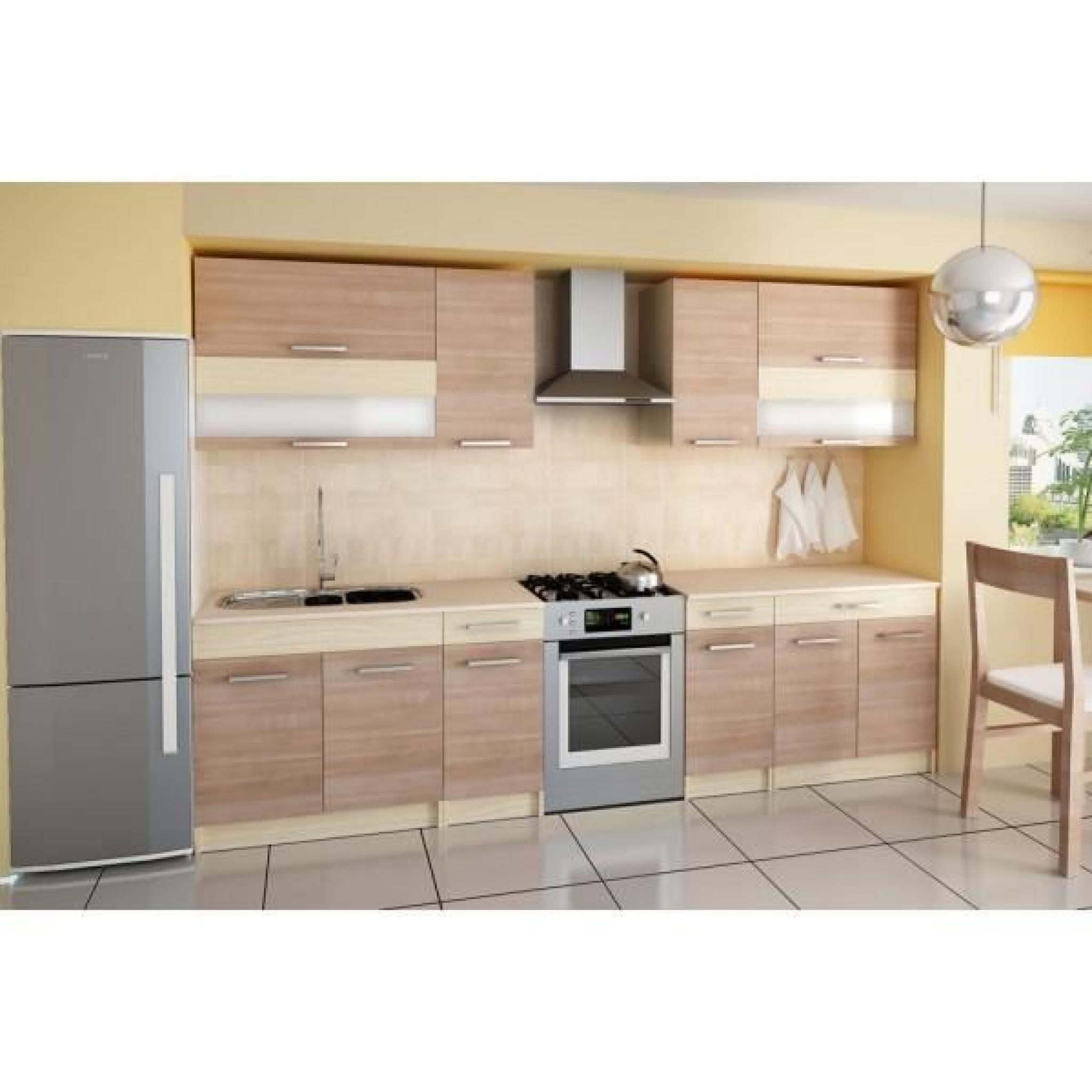 Cuisine compl te 260 cm elise bois moderne achat vente for Cuisine complete design