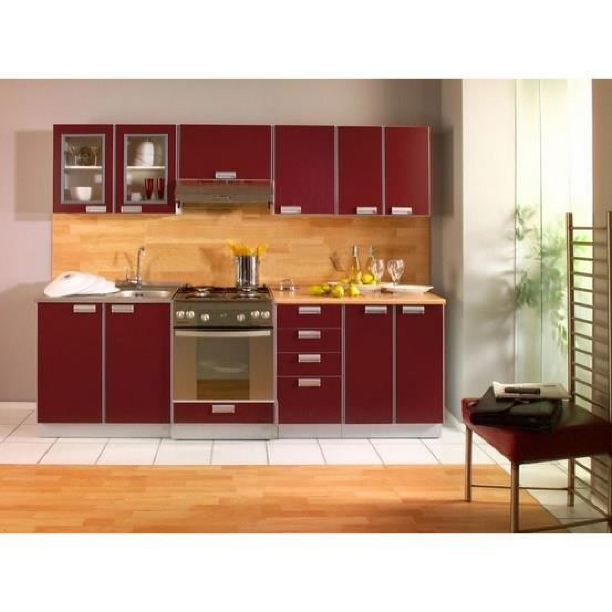 cuisine opale 2m40 avec electromenager evier et mitigeur achat vente cuisine complete pas cher. Black Bedroom Furniture Sets. Home Design Ideas