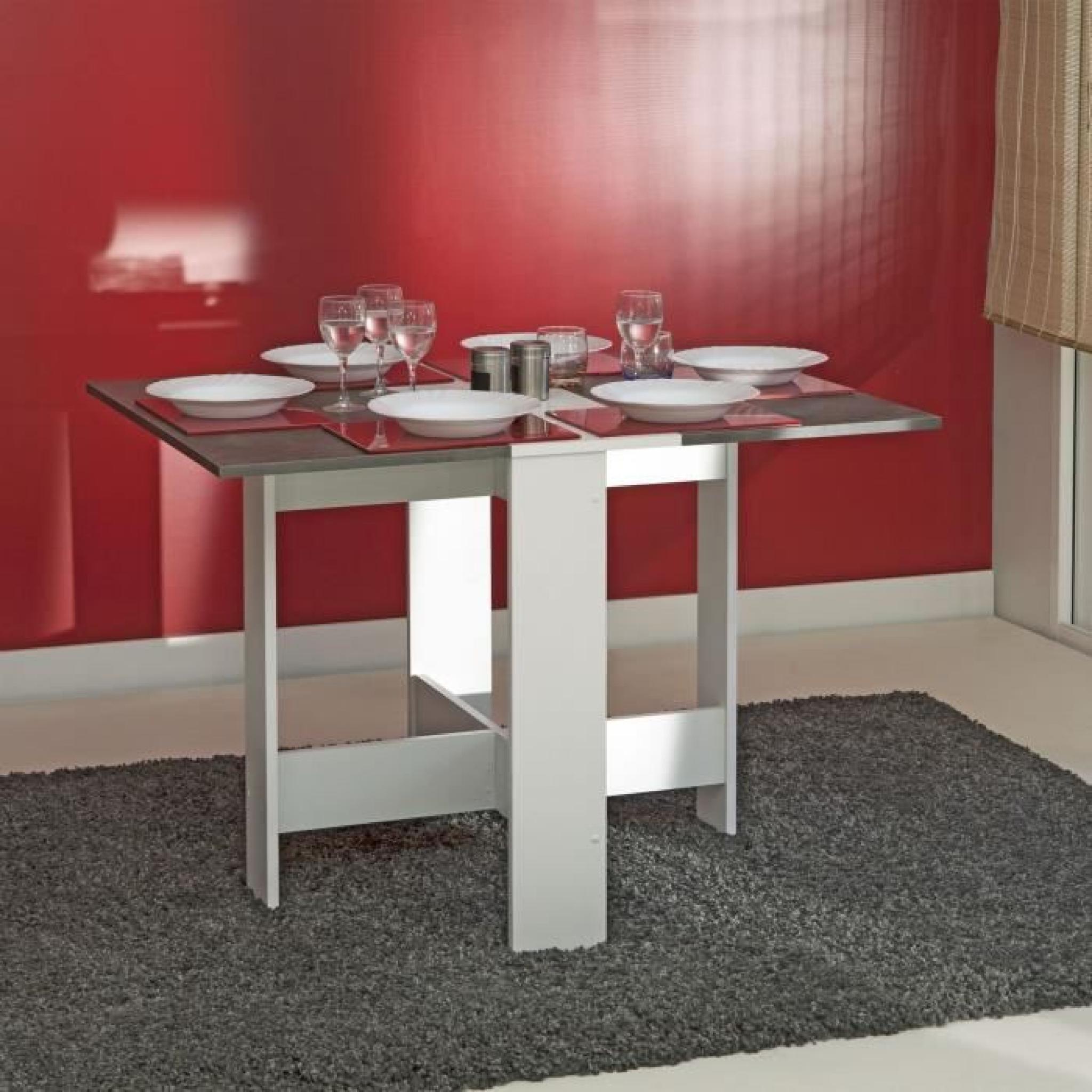 Curry table pliante 28 103 cm blanc b ton fonc achat for Table salle a manger pliante design