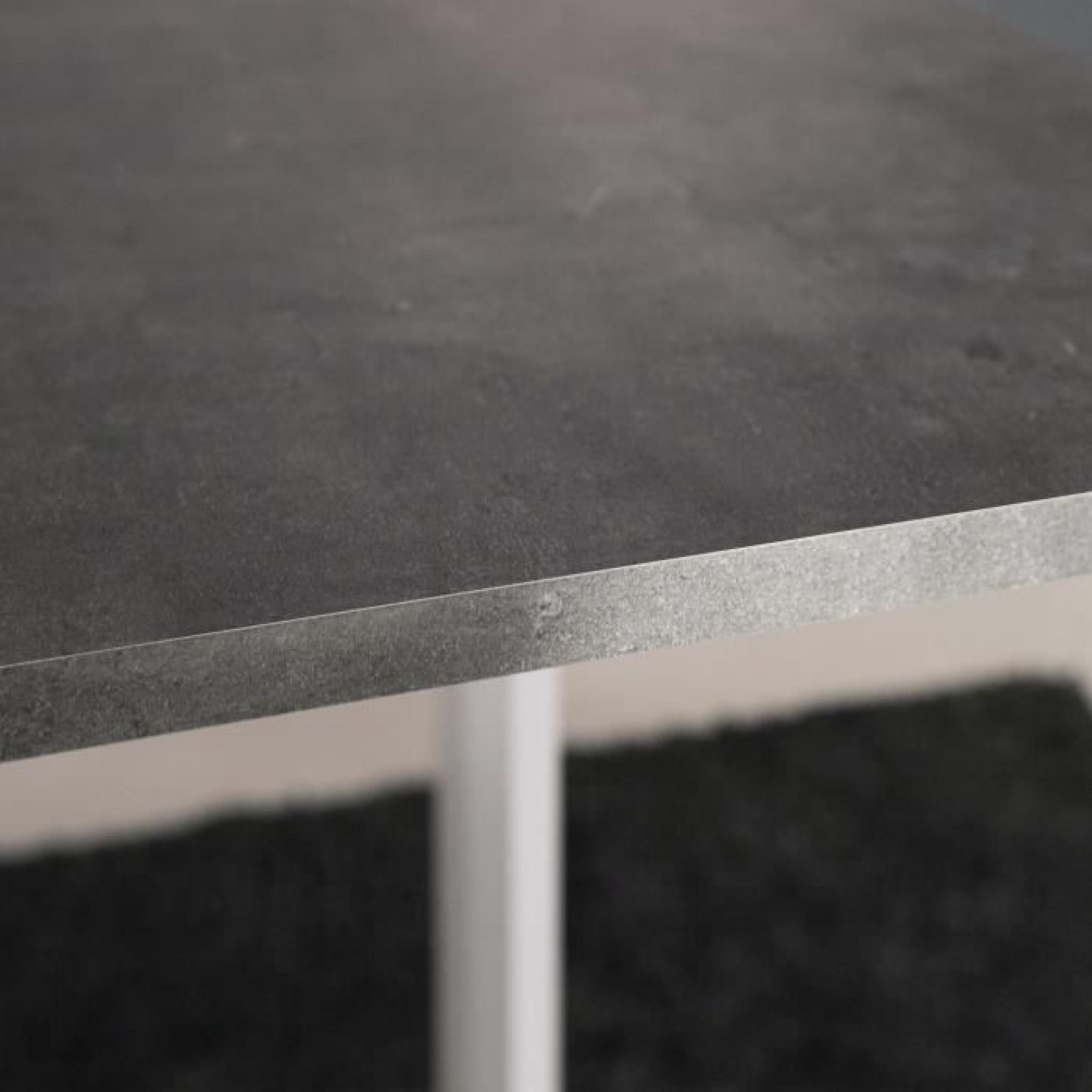 Curry table pliante 28 103 cm blanc b ton fonc achat - Table beton pas cher ...