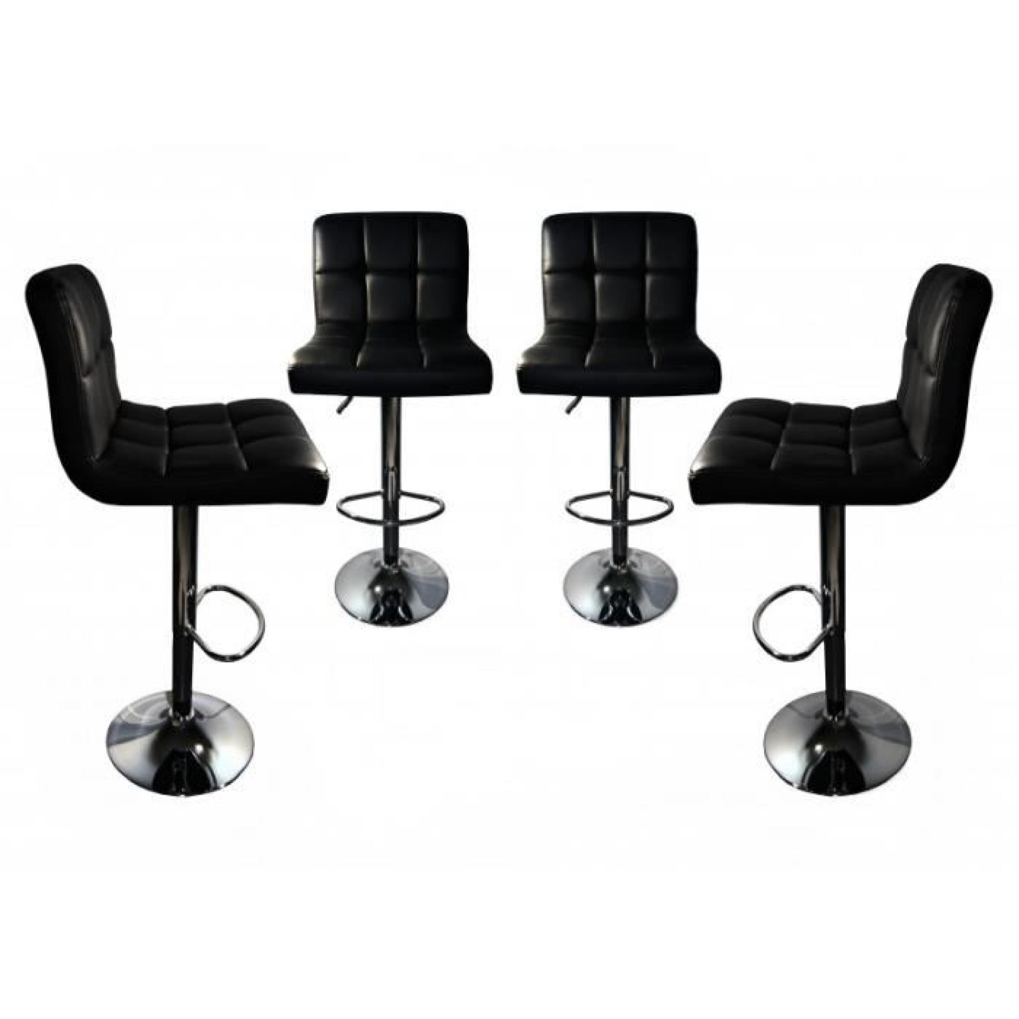 dave lot de 4 tabourets de bar noir achat vente tabouret de bar pas cher couleur et. Black Bedroom Furniture Sets. Home Design Ideas