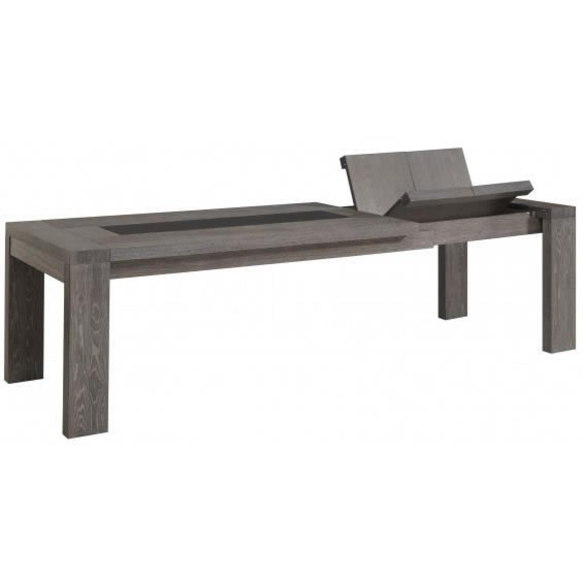 Dayton table rectangulaire avec allonges achat vente for Table a manger avec rallonge integree