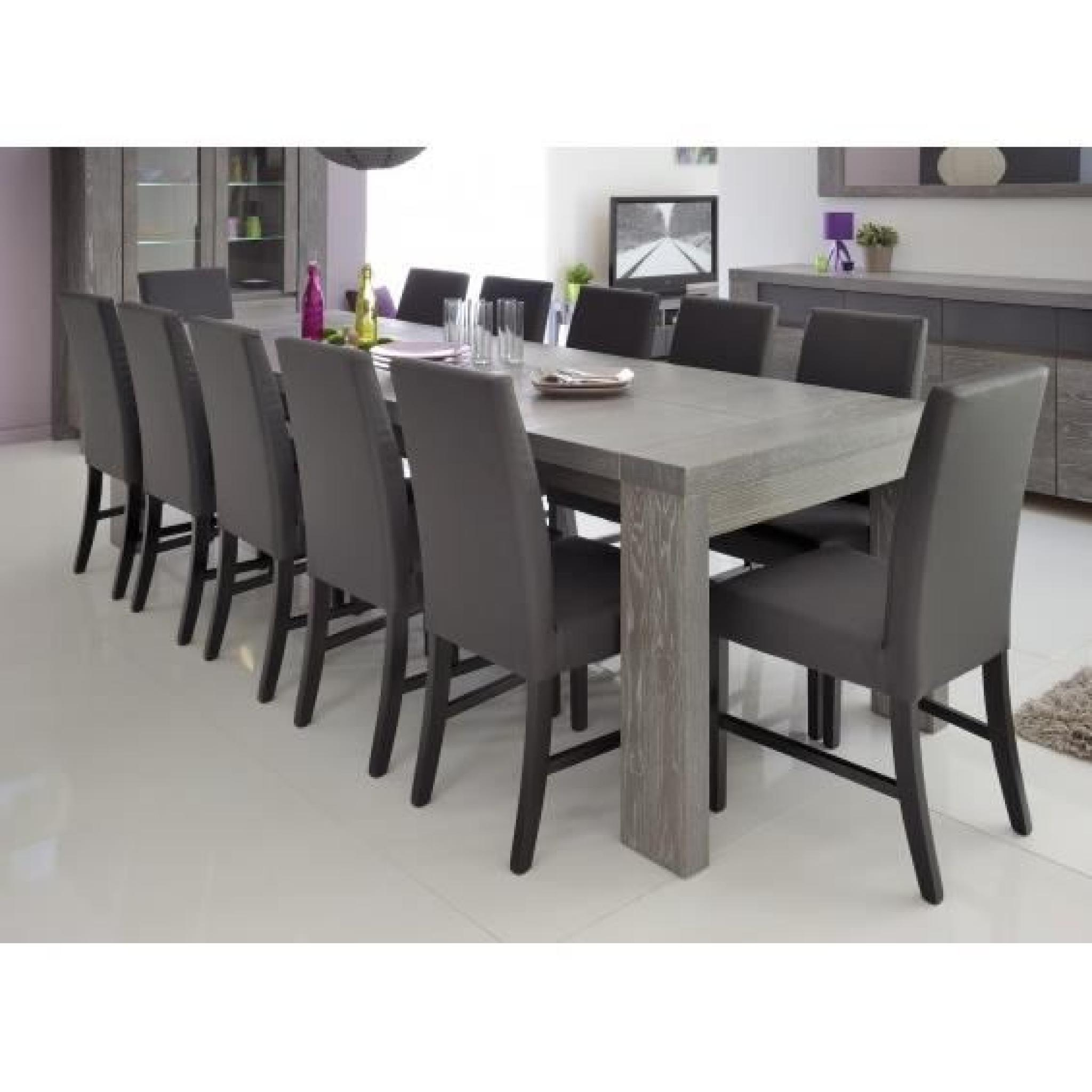 dayton table rectangulaire avec allonges achat vente table salle a manger pas cher couleur. Black Bedroom Furniture Sets. Home Design Ideas