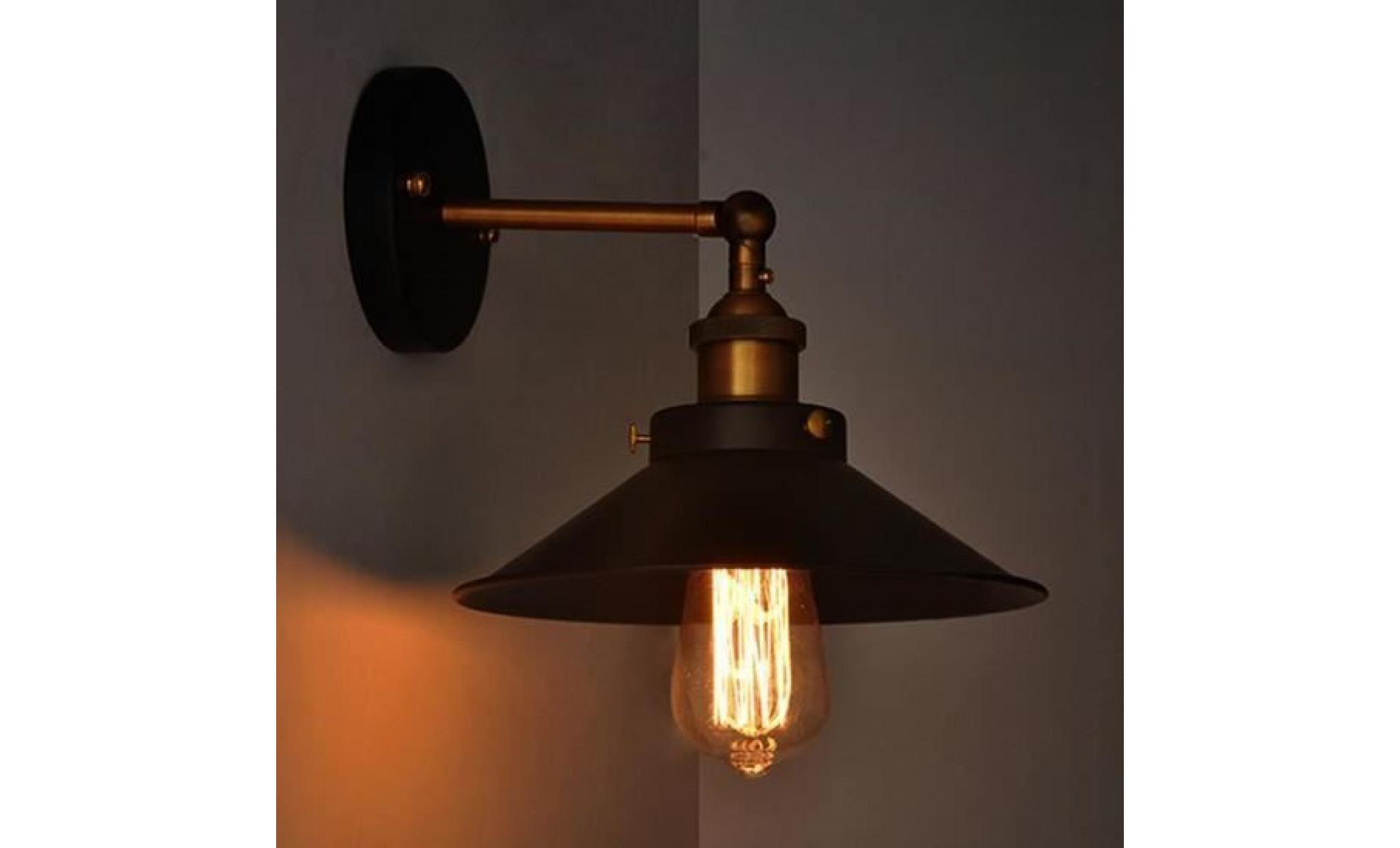 Diamètre Lampe Vintage Loft mur luminaires rétro Applique murale Edison E27 21 cm (ampoule ne sont pas compris)