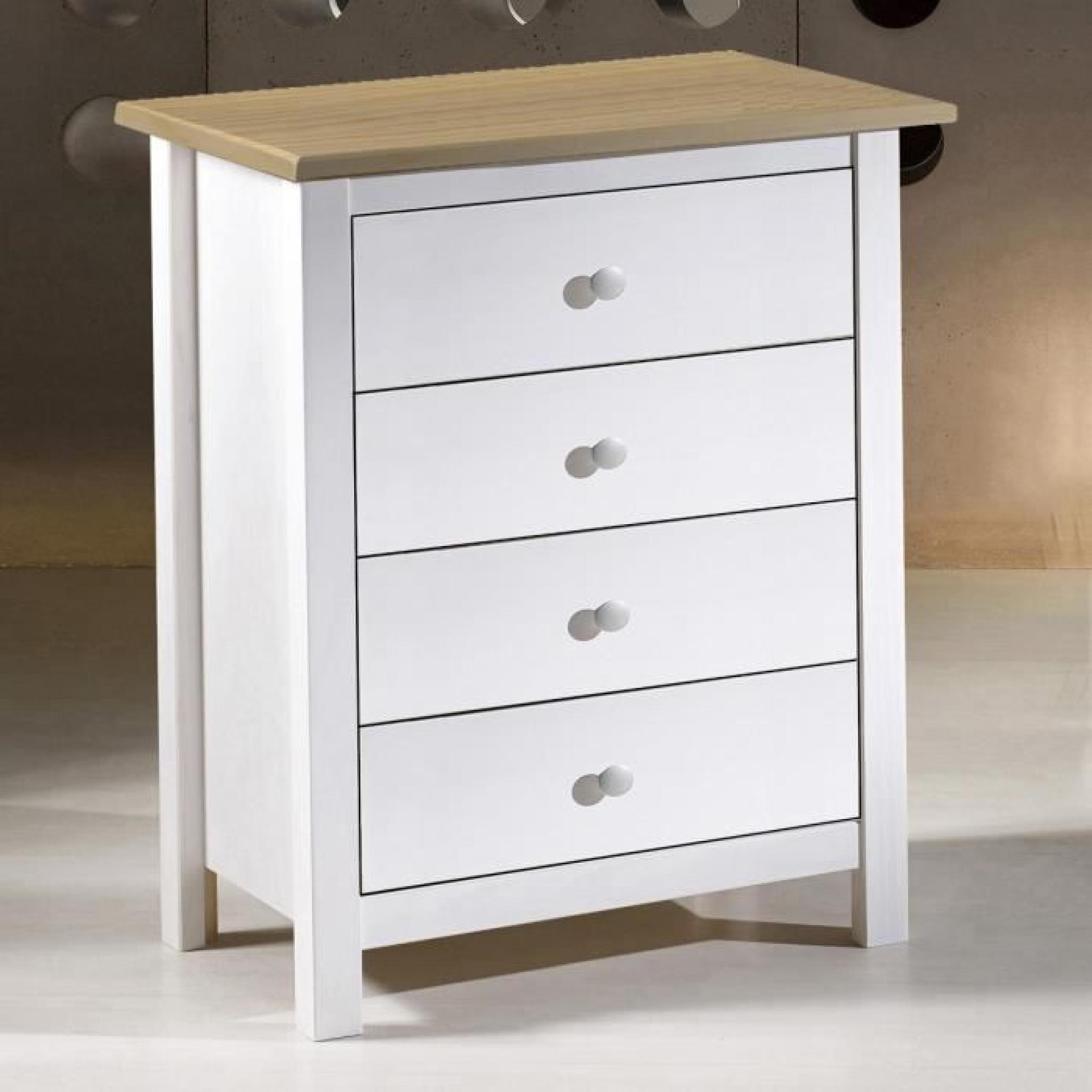 Commode 4 tiroirs pas cher - Commode design pas cher ...