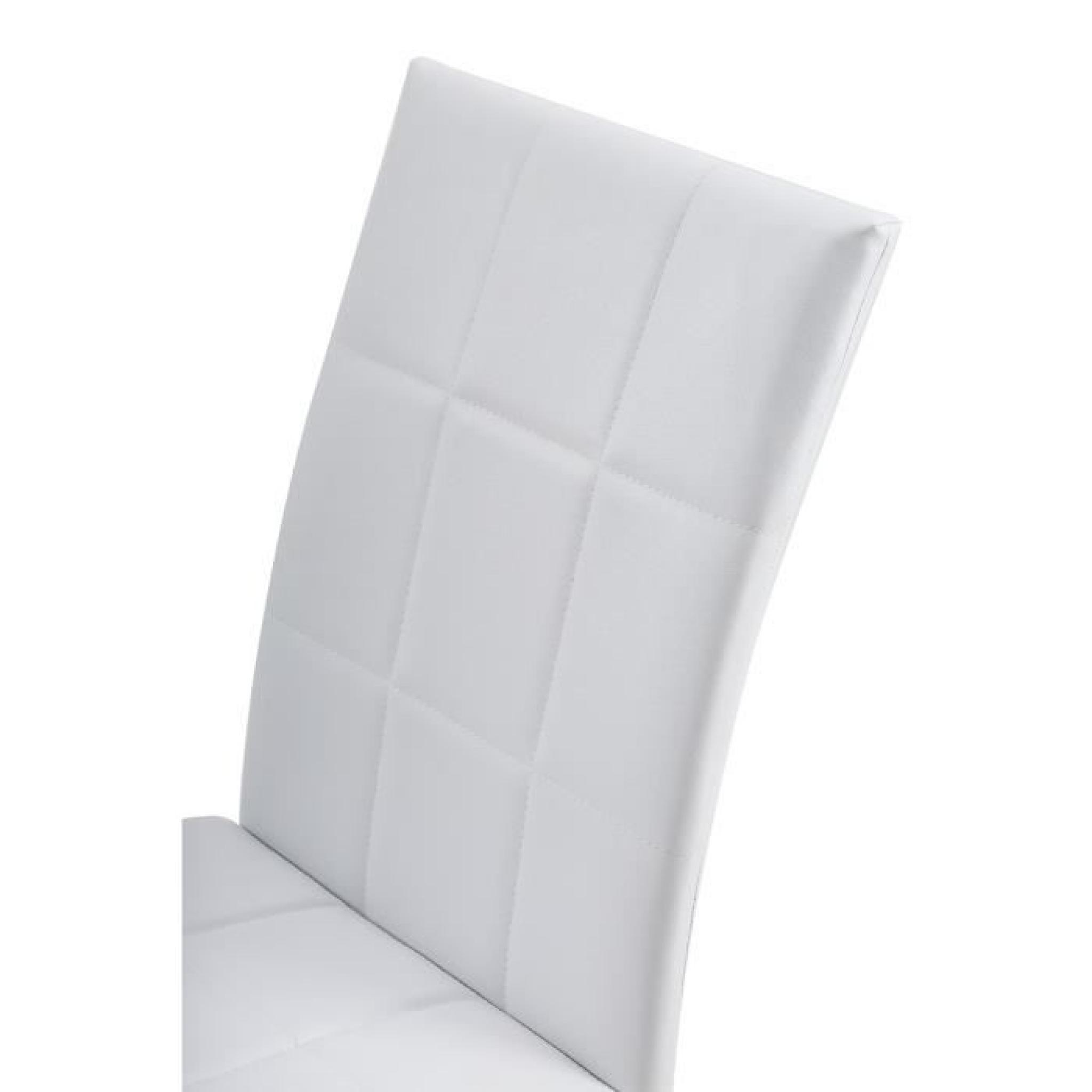 Achat de chaises de salle a manger valdiz - Chaise blanche de salle a manger ...
