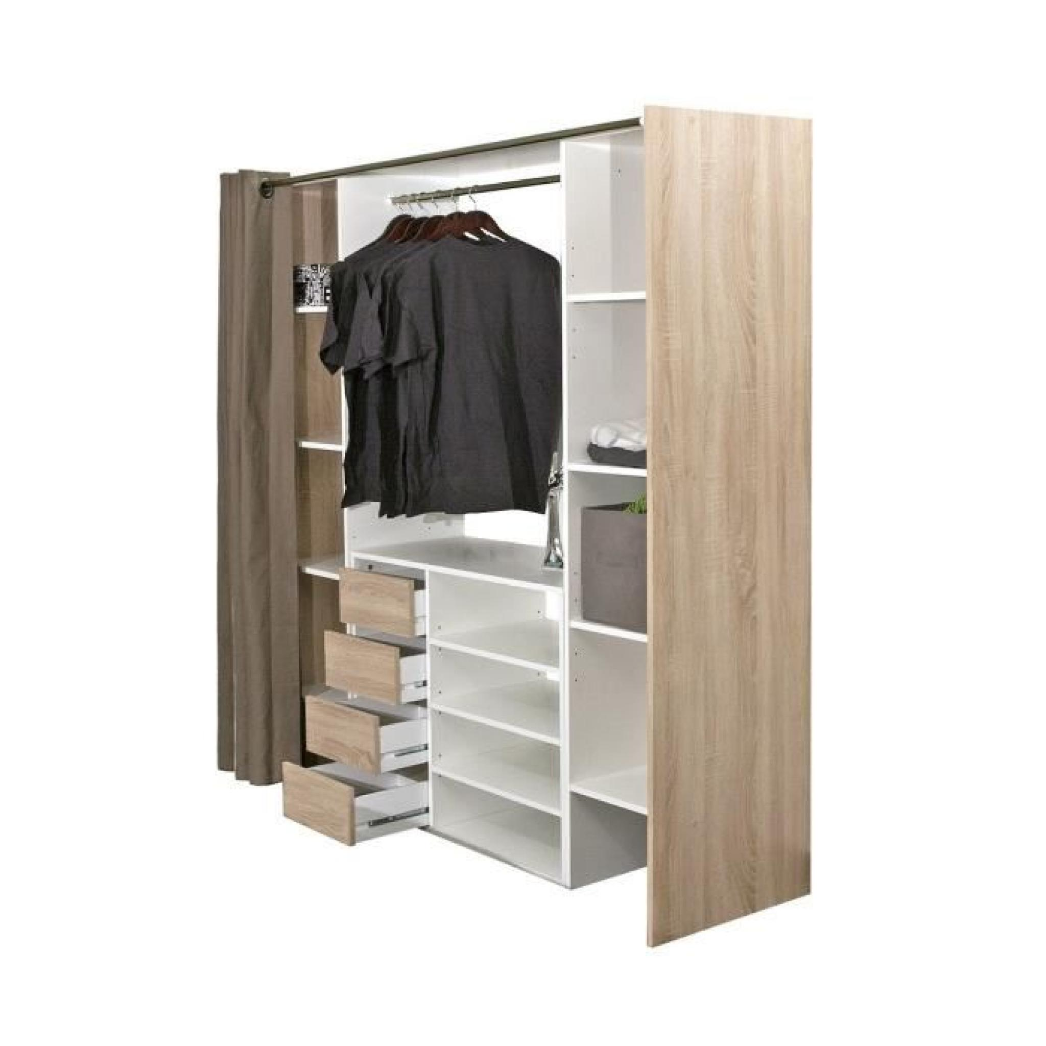 awesome good dressing extensible avec rideau with penderie. Black Bedroom Furniture Sets. Home Design Ideas