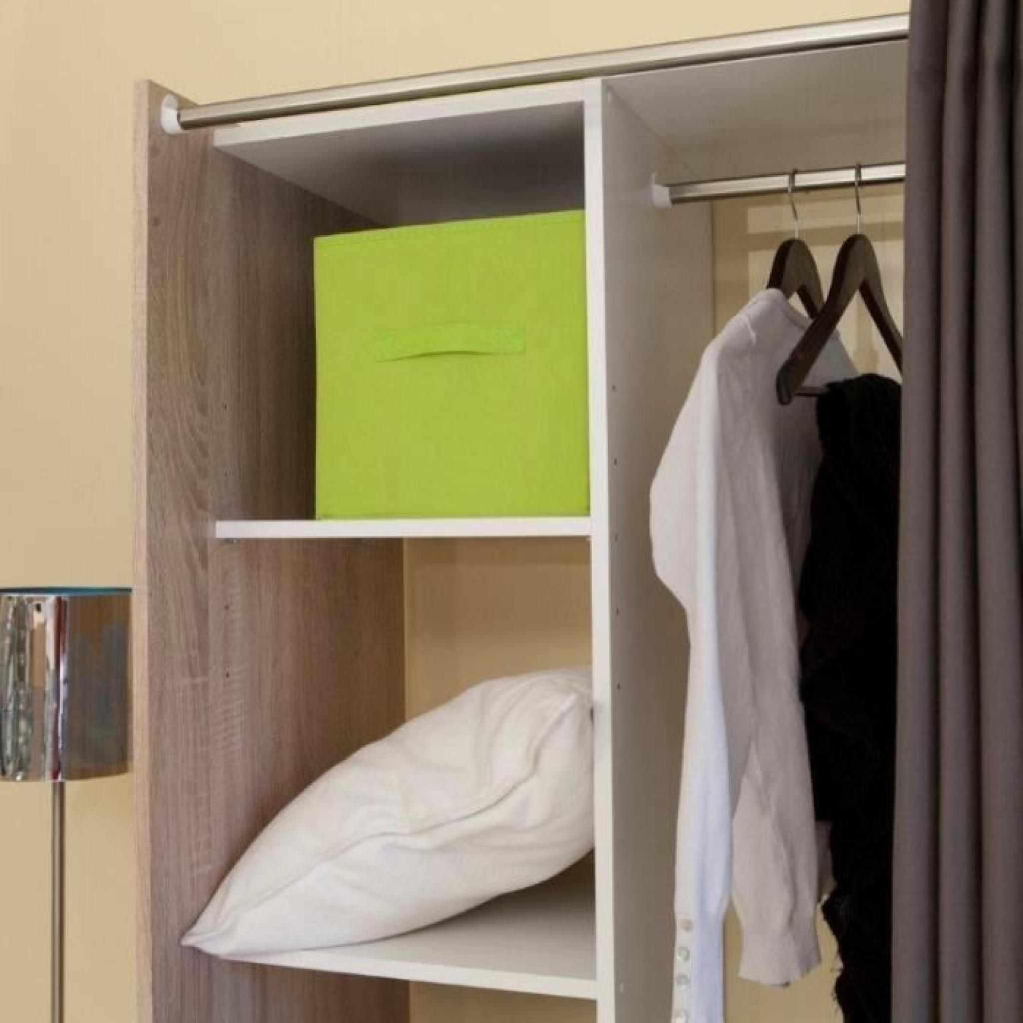 dress up dressing extensible taupe 2 colonnes achat vente dressing pas cher couleur et. Black Bedroom Furniture Sets. Home Design Ideas