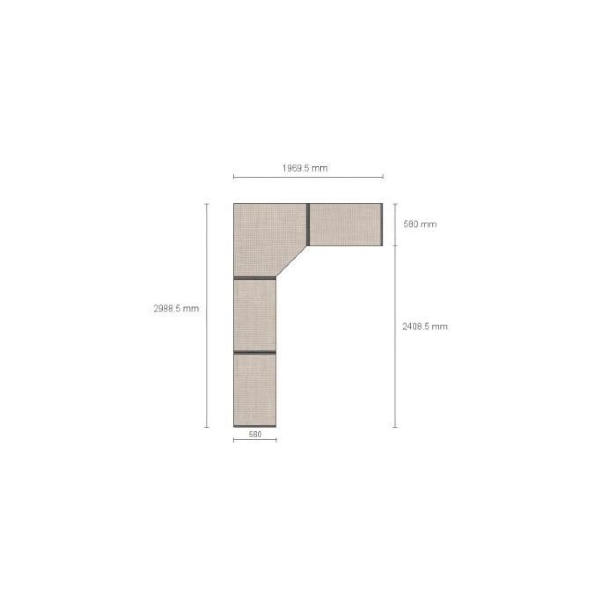 dressing d 39 angle solano l297 x l197 x h240 bois achat vente dressing pas cher couleur et. Black Bedroom Furniture Sets. Home Design Ideas