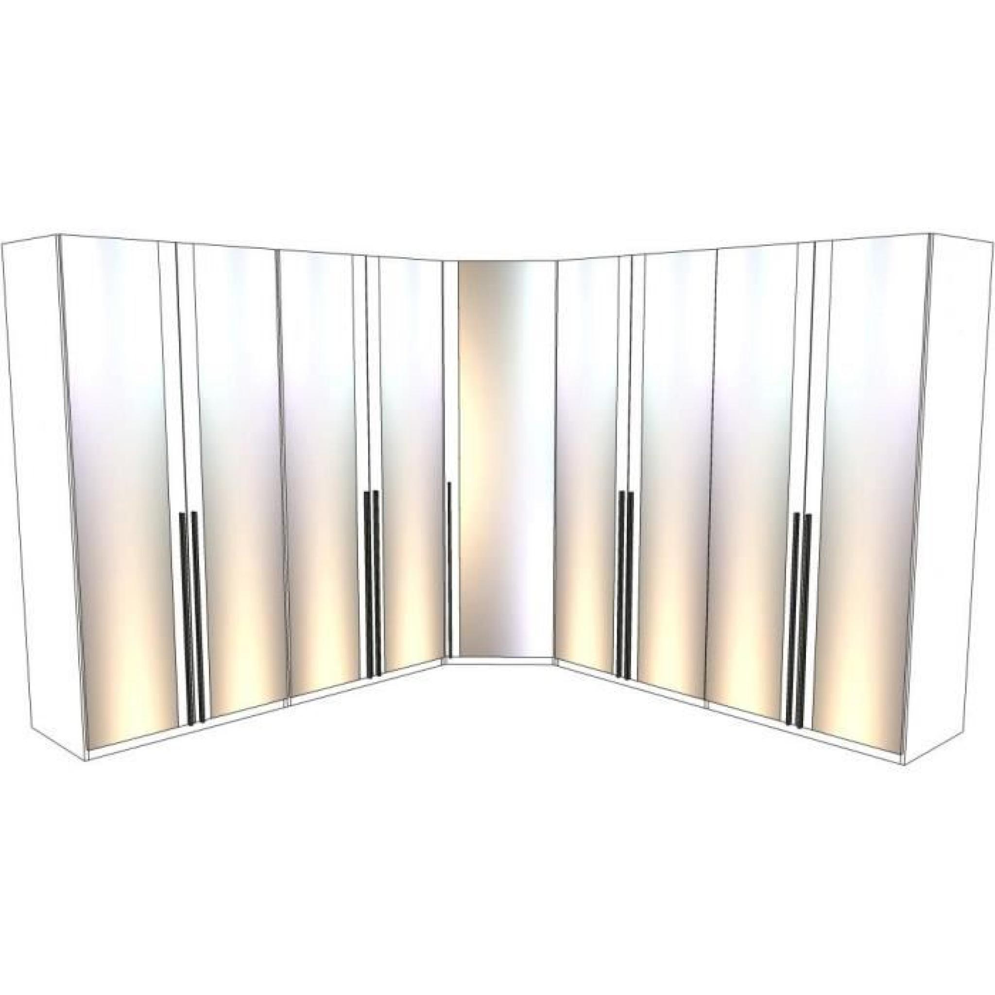 dressing d 39 angle solano l297 x l297 x h240 bois achat. Black Bedroom Furniture Sets. Home Design Ideas