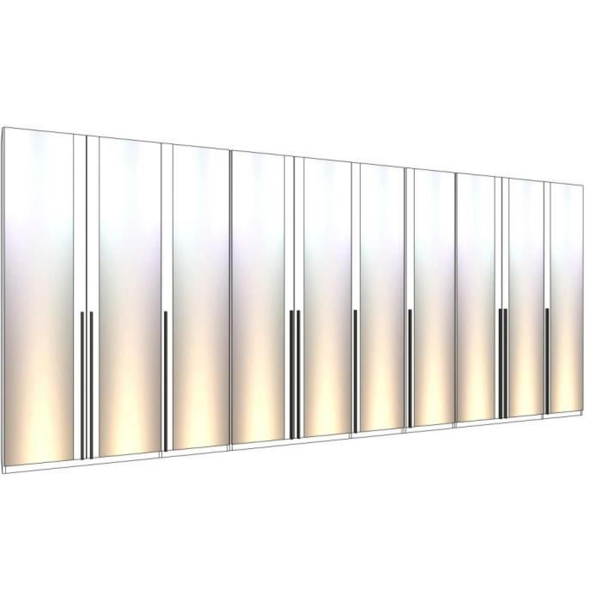dressing mural solano l 502 x h 240 cm p miroirs achat vente dressing pas cher couleur et. Black Bedroom Furniture Sets. Home Design Ideas