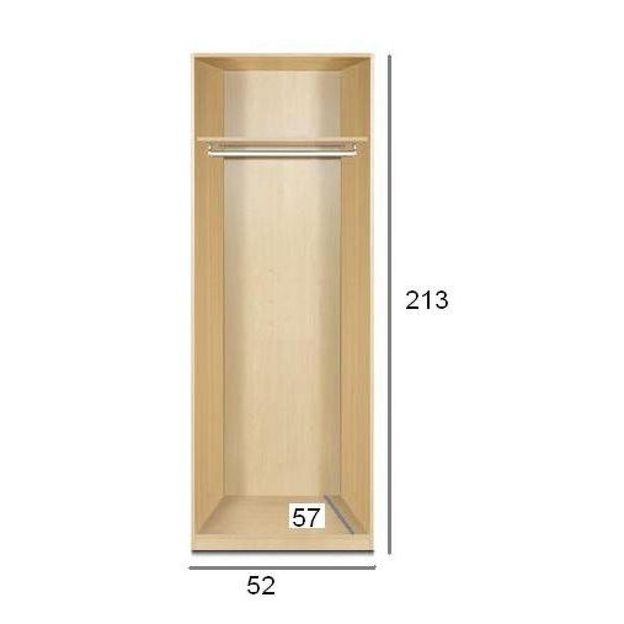 dressing penderie paris une porte abattant noye achat vente dressing pas cher couleur et. Black Bedroom Furniture Sets. Home Design Ideas