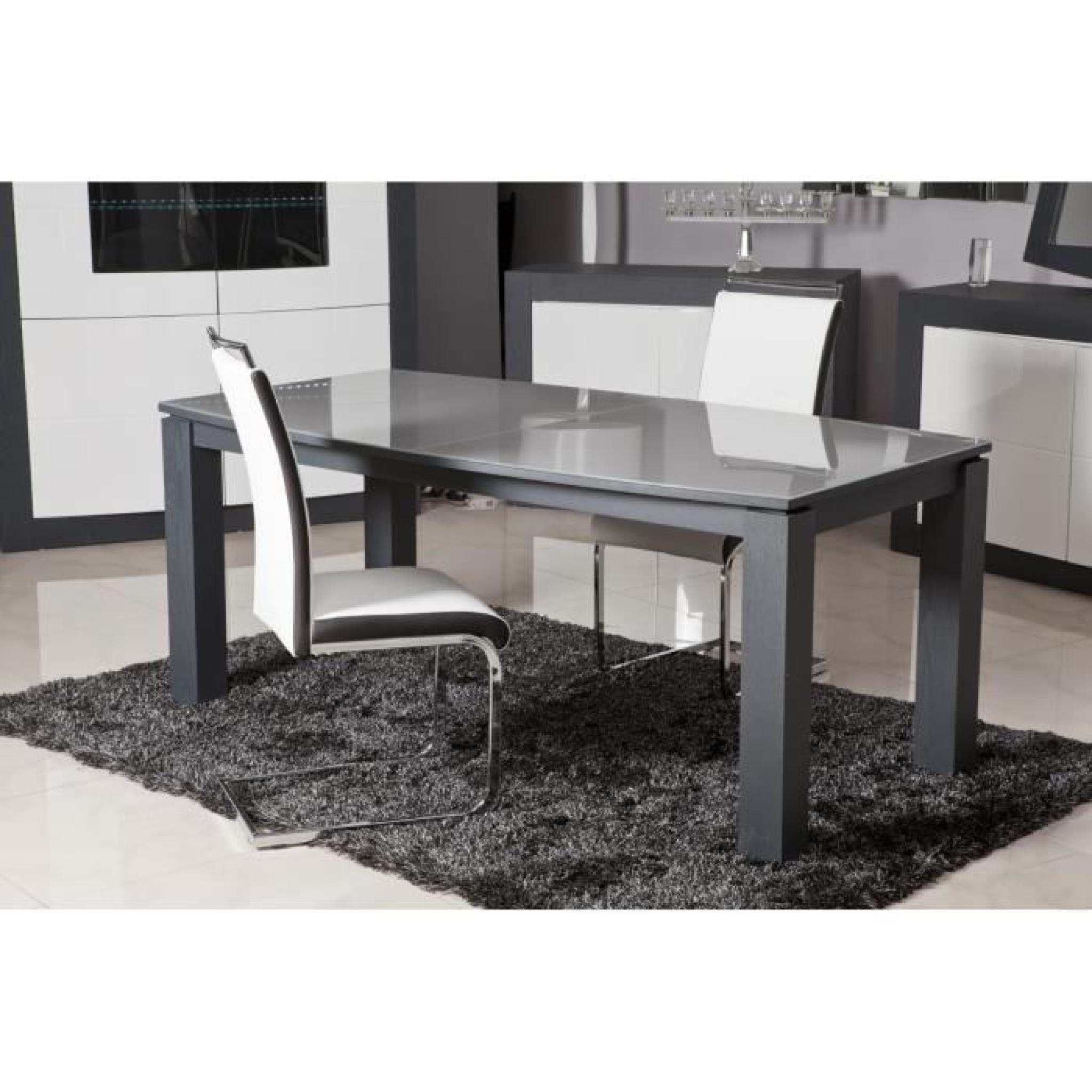 DYLAN lot de 2 chaises Blanc/Noir - Achat/Vente chaise salle a ...