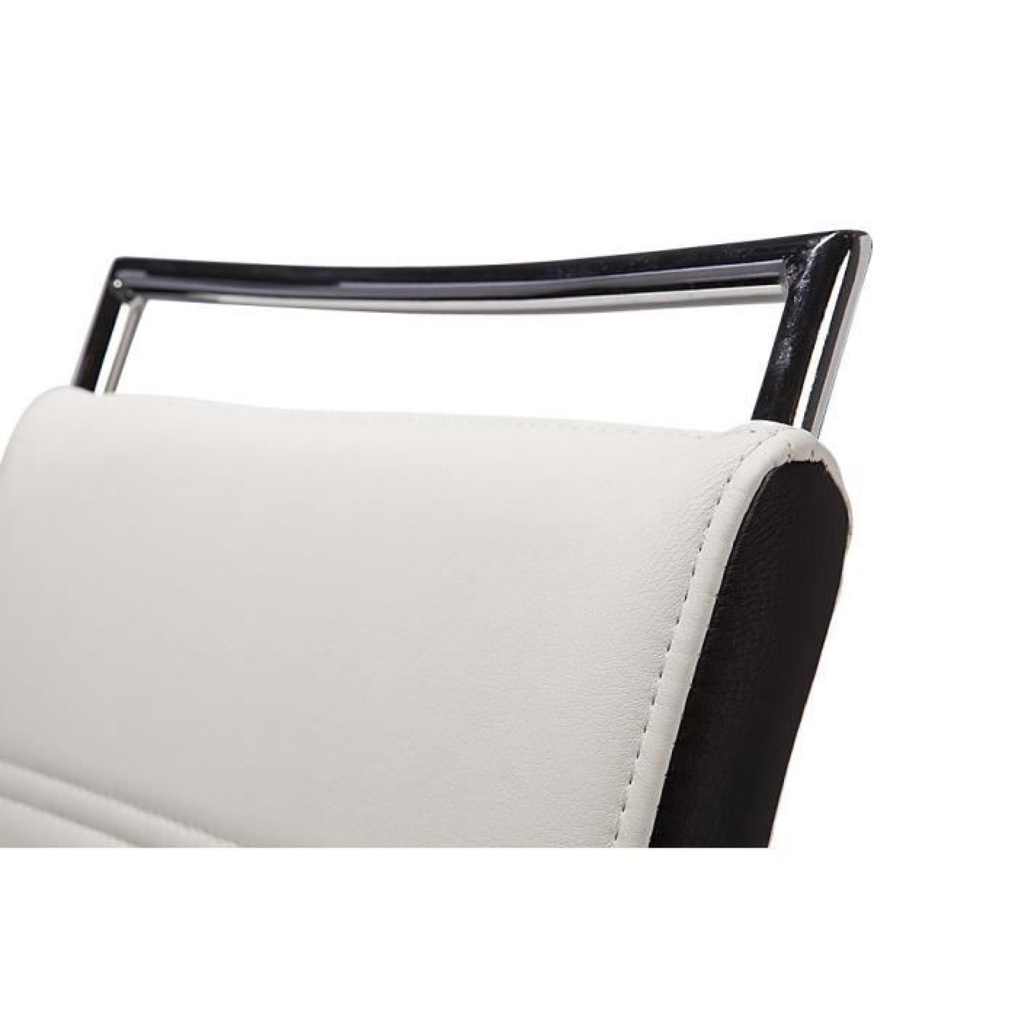 Dylan lot de 2 chaises blanc noir achat vente chaise - Chaise salle a manger pas cher lot de 4 ...