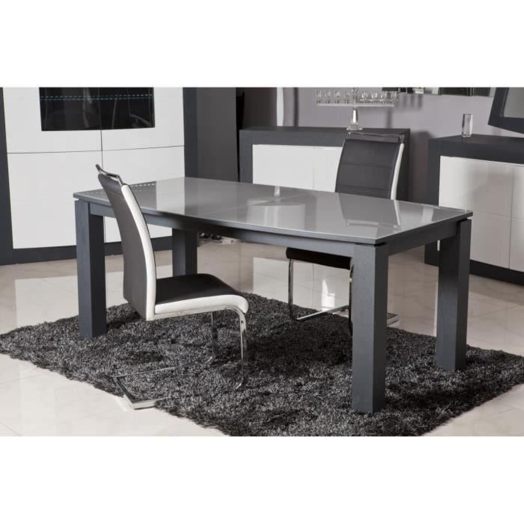 dylan lot de 6 chaises salon noir blanc achat vente. Black Bedroom Furniture Sets. Home Design Ideas