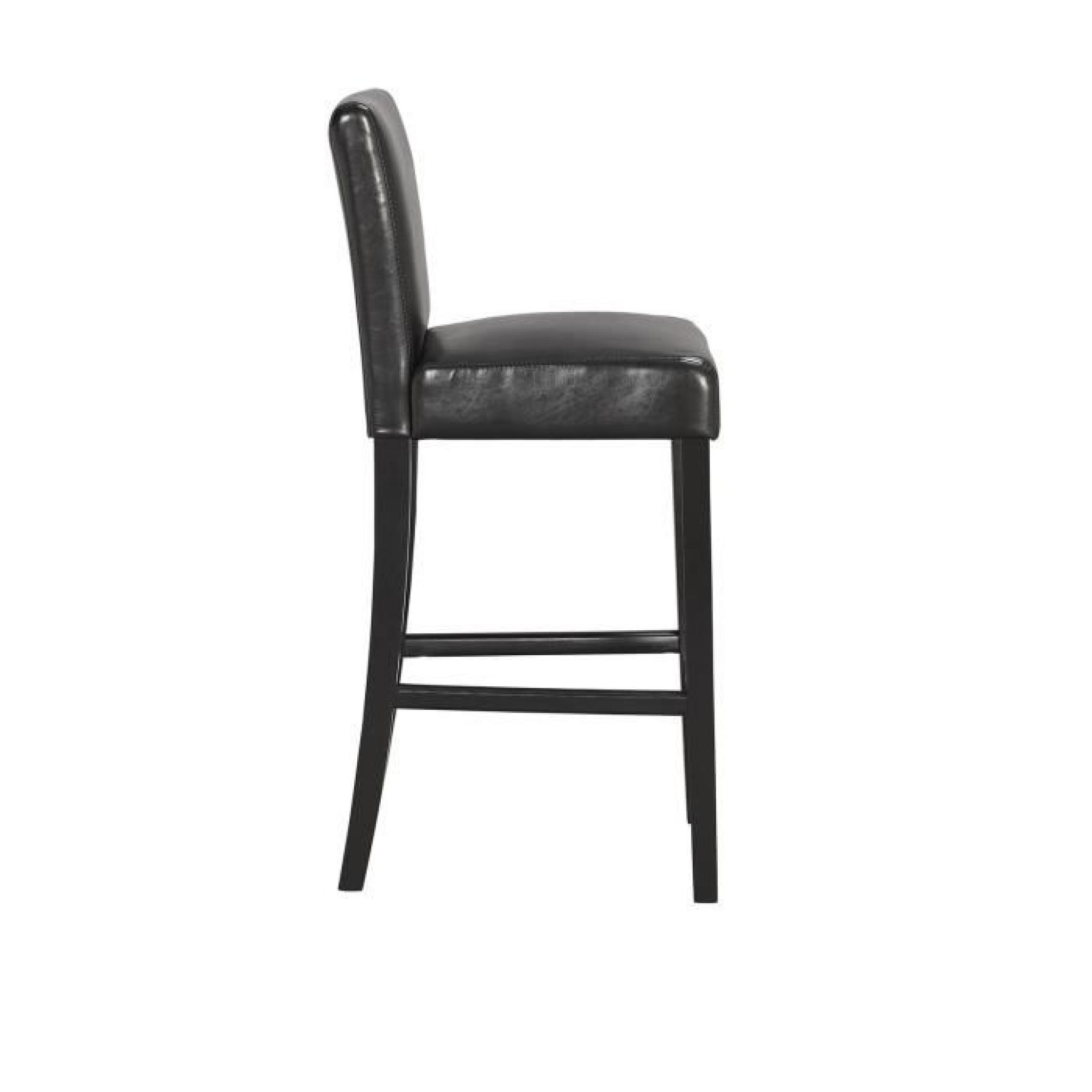 elvis lot de 2 chaises de bar noires achat vente tabouret de bar pas cher couleur et. Black Bedroom Furniture Sets. Home Design Ideas