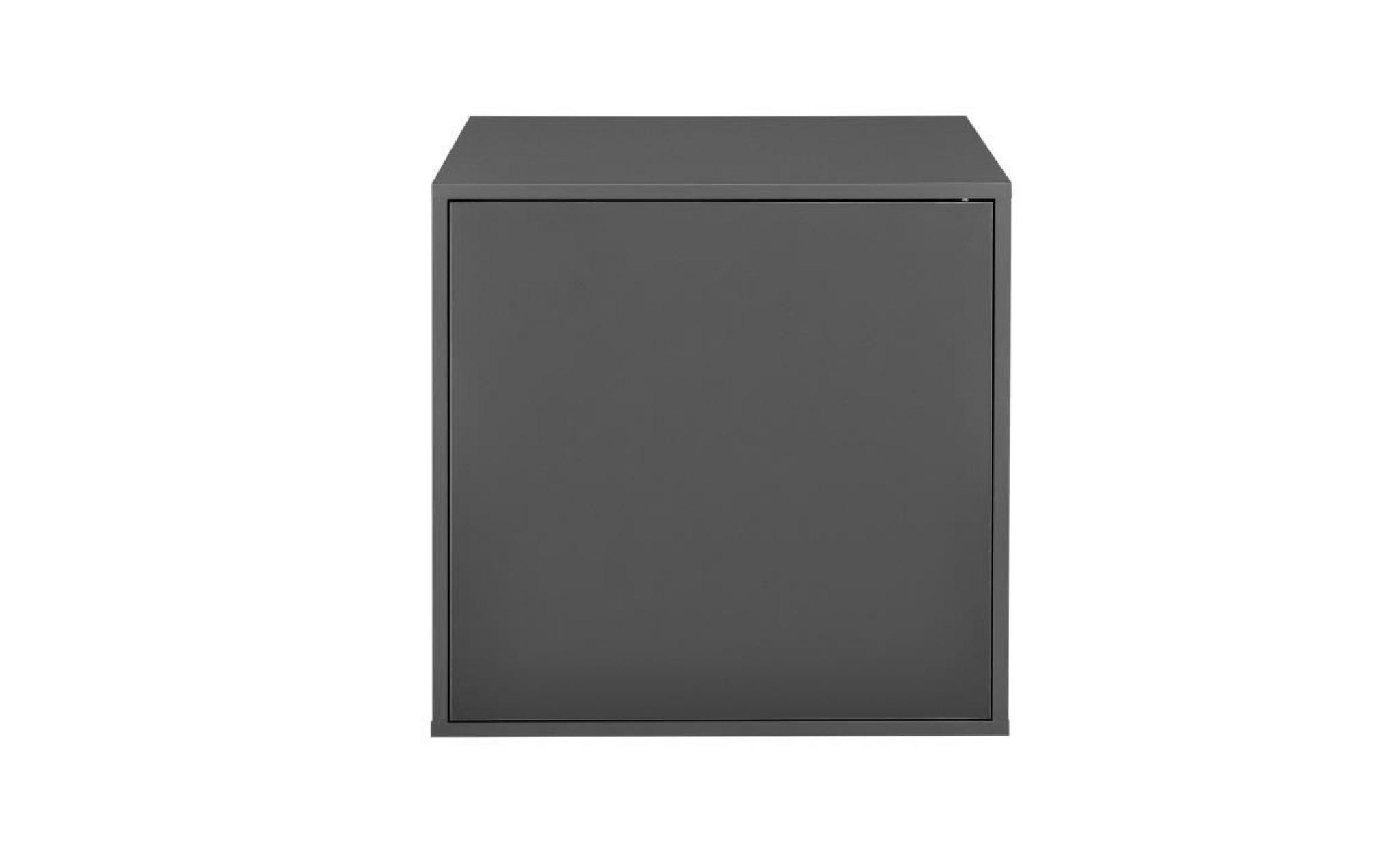 En Casa Armoire Variable Moderne Avec Porte Systeme D Etagere Murale Avec Porte 30x45x40 Cm Gris