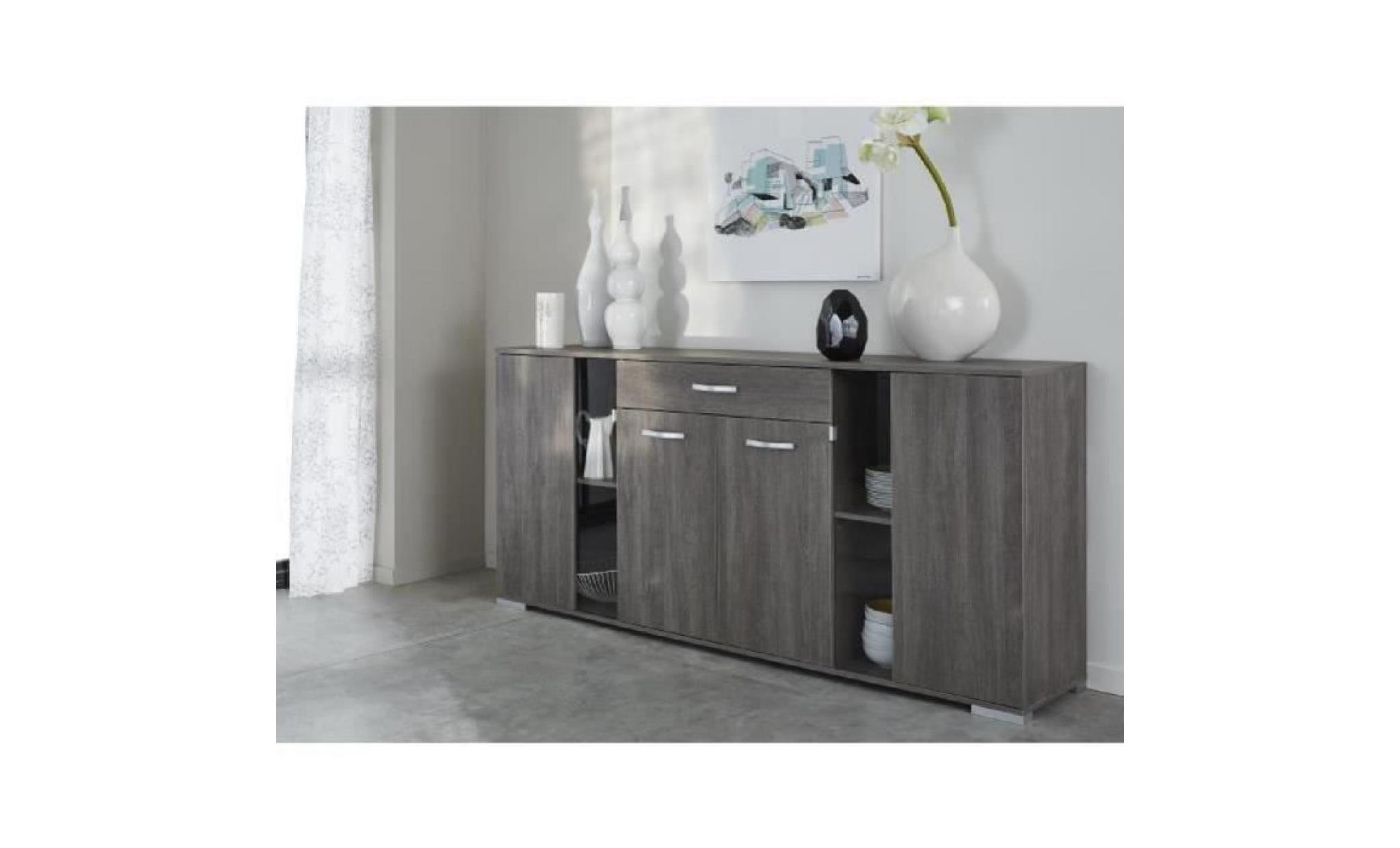 enfilade brussel ch ne prata achat vente buffet pas cher. Black Bedroom Furniture Sets. Home Design Ideas