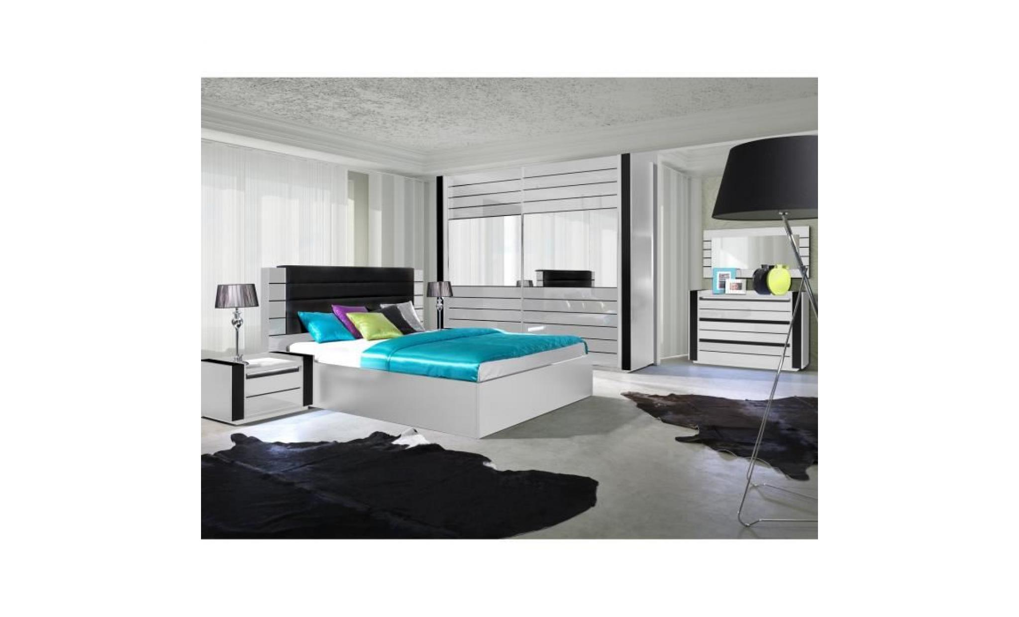 ensemble design pour chambre coucher lina blanc lit 2. Black Bedroom Furniture Sets. Home Design Ideas