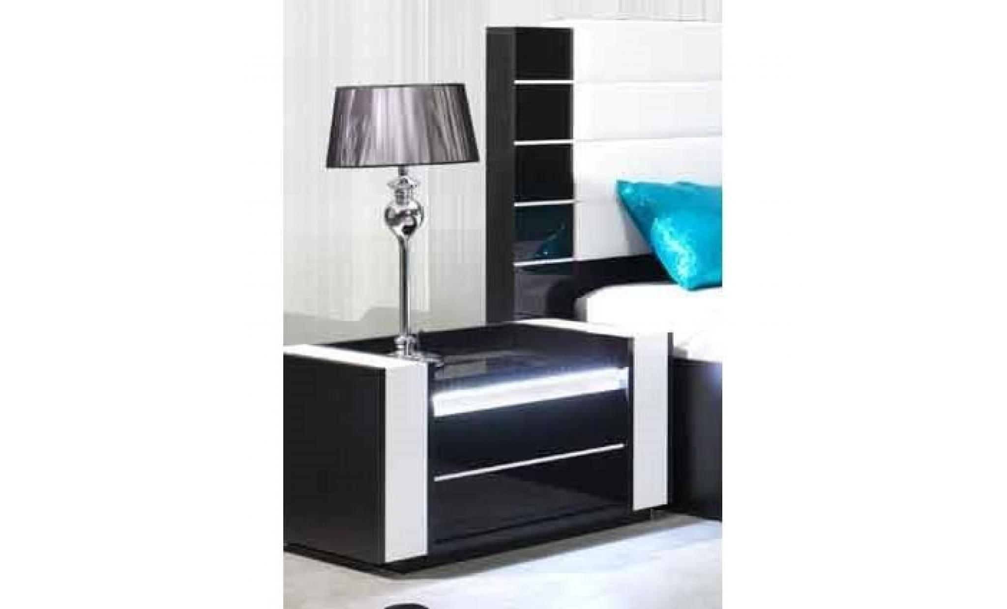 Ensemble design pour chambre coucher lina noir lit 2 for Ensemble de chambre a coucher pas cher