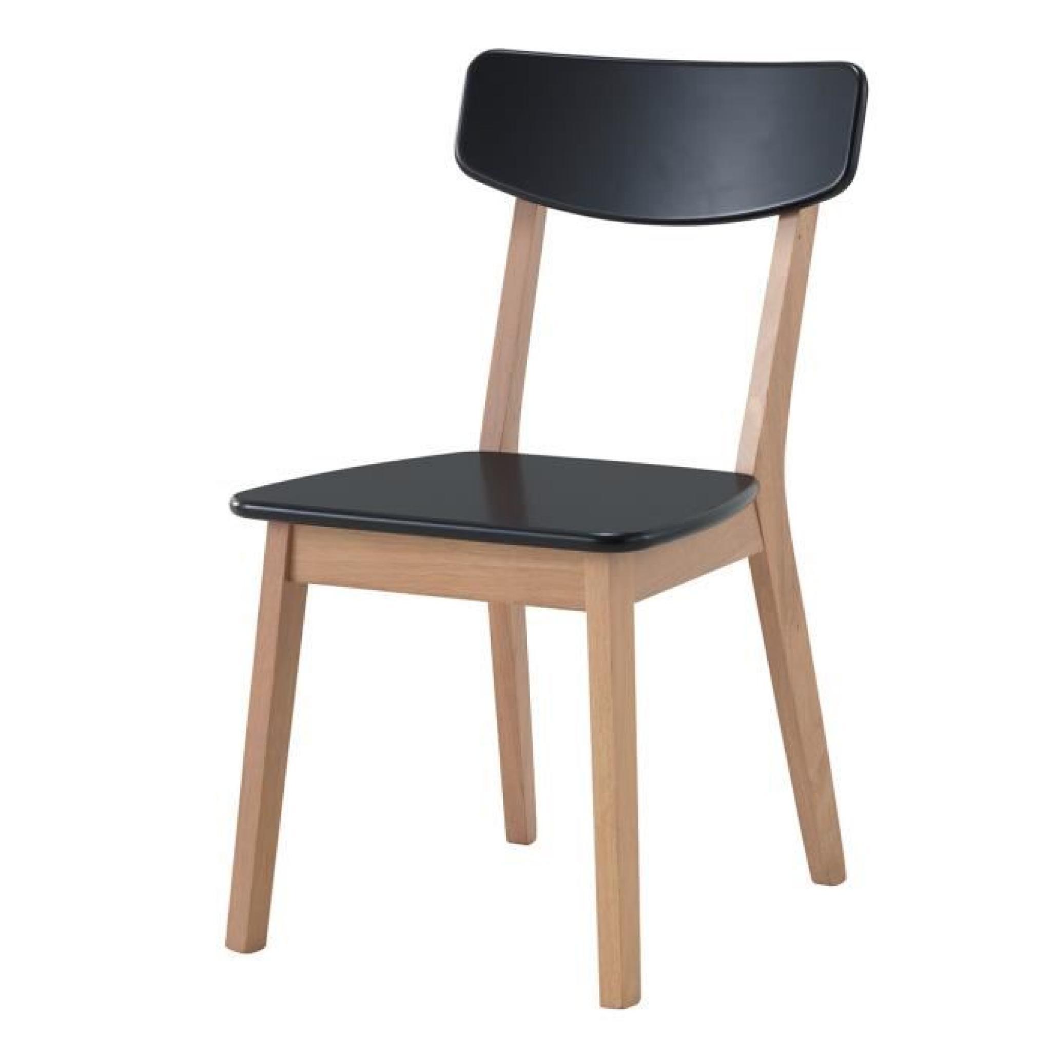 Ensemble OSLO noir. Table de cuisine et salle à manger design. Set composé  d\'une table et de 4 chaises ultra tendance.