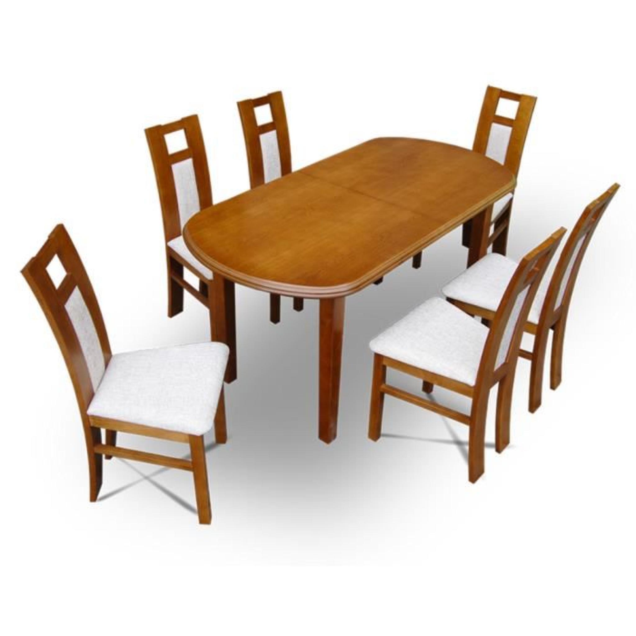 Ensemble Table Extensible Et 6 Chaises Tablewood Manatan 160x80
