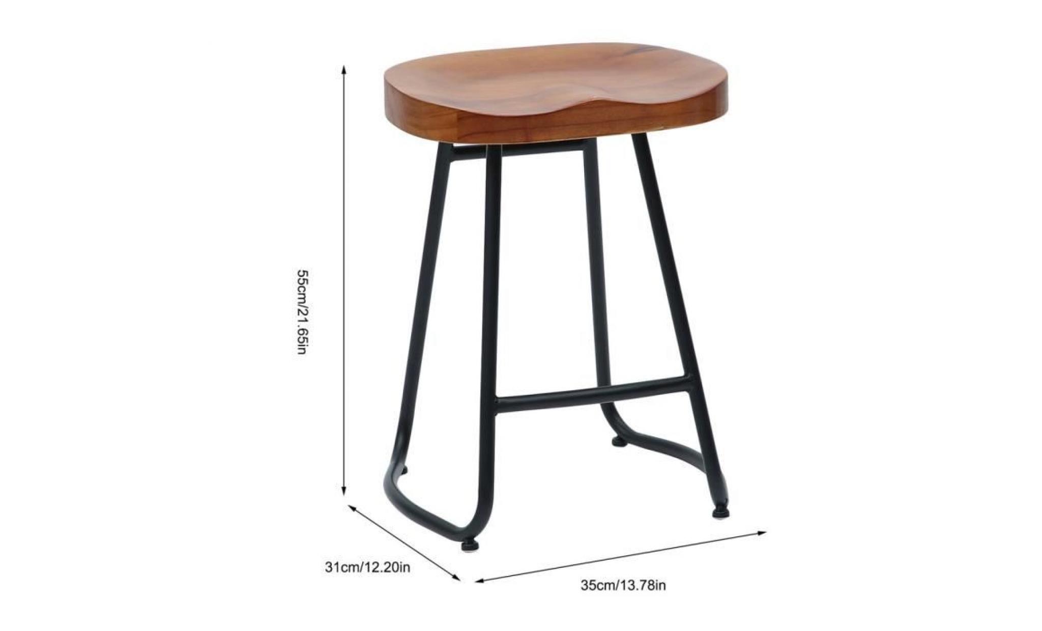 bois avec métal ergonomique style pied en repose tabouret comfortable pied moderne bar de E29HID