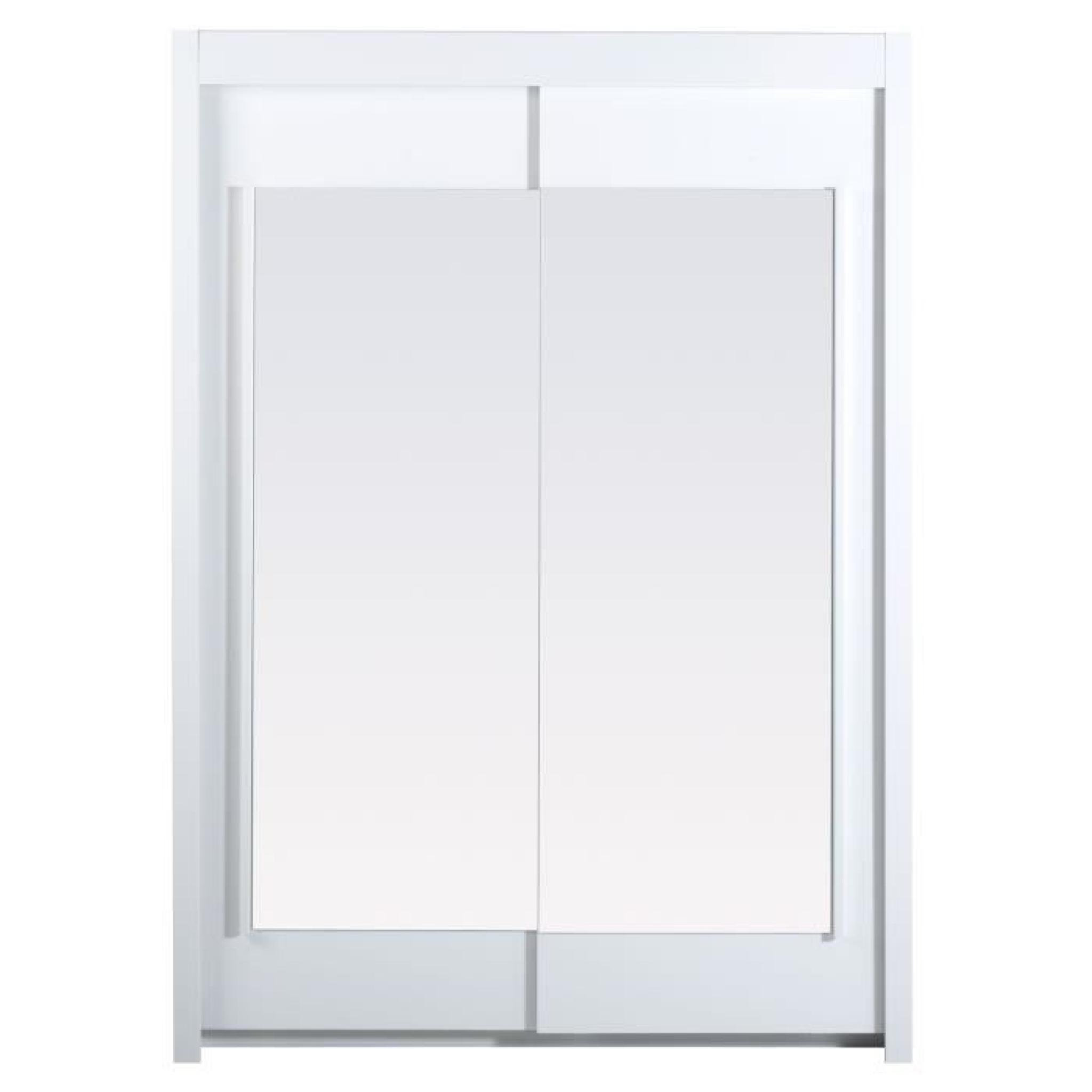 essentielle armoire blanche 2 portes 4 tag res achat vente armoire de chambre pas cher. Black Bedroom Furniture Sets. Home Design Ideas