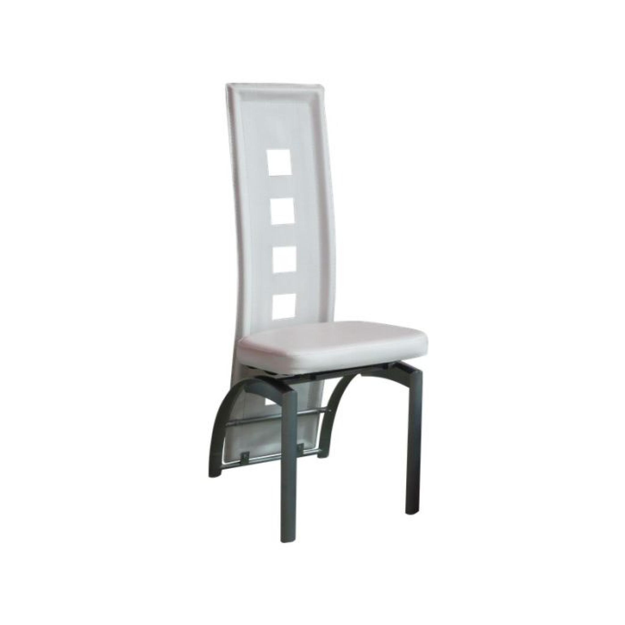 Eve Lot 6 Chaises Blanches