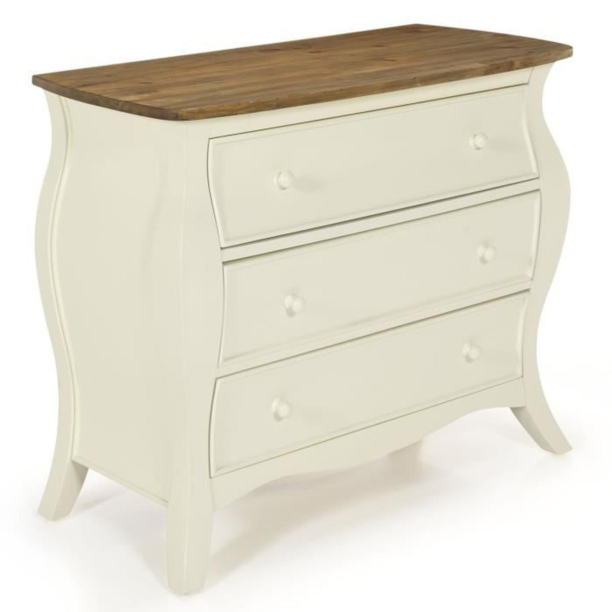 Evelyn Commode Romantique 3 Tiroirs Achat Vente Commode Pas Cher