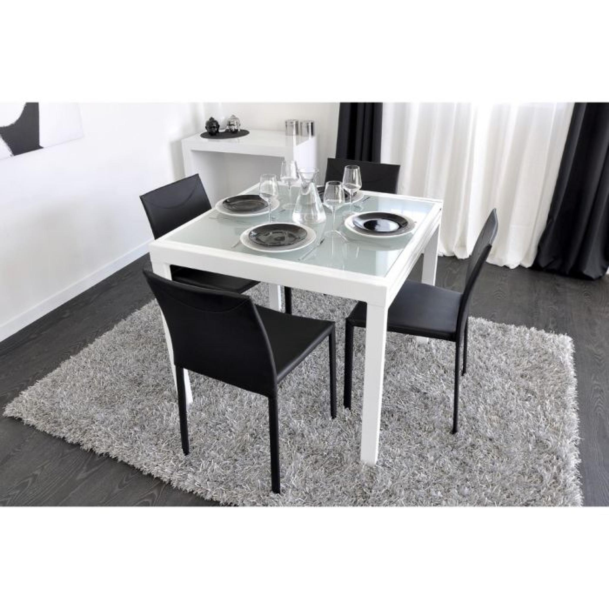 Extend table extensible blanche 90 180cm achat vente for Table salle a manger extensible blanche