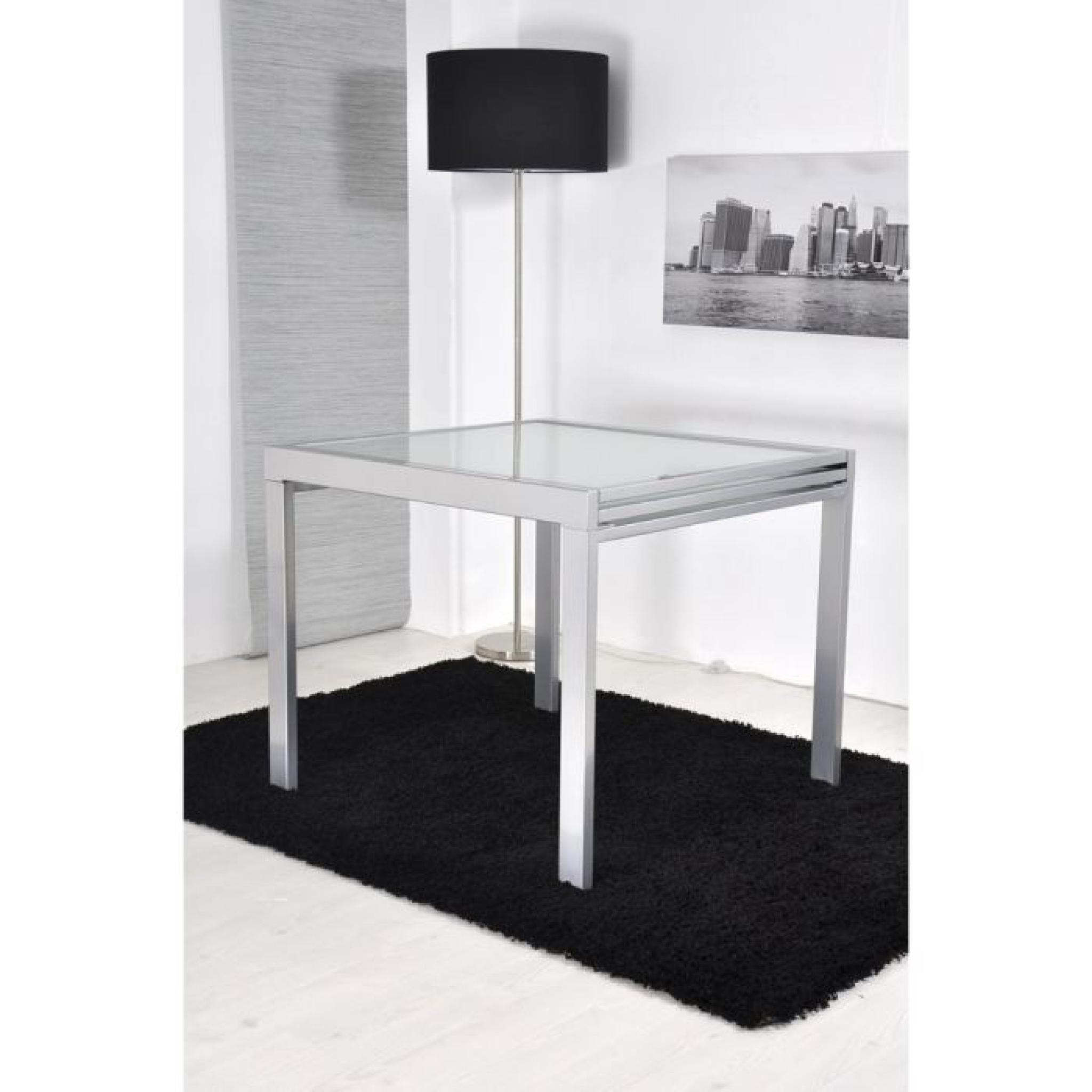 47a98c95ed3abf EXTEND Table extensible grise 90 180cm - Achat Vente table salle a ...