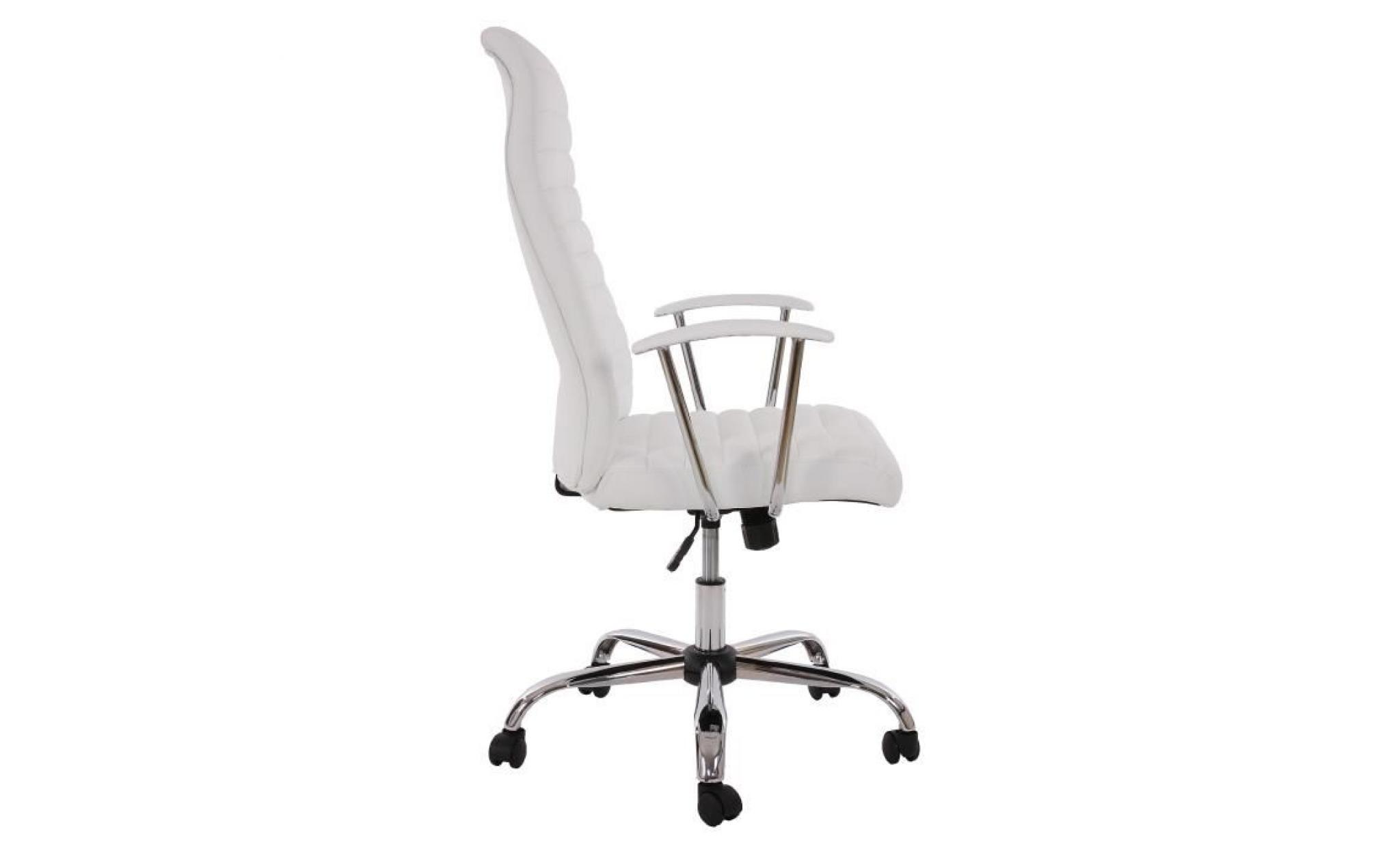 fauteuil chaise de bureau cagliari ergonomique pu blanc achat vente fauteuil de bureau pas. Black Bedroom Furniture Sets. Home Design Ideas