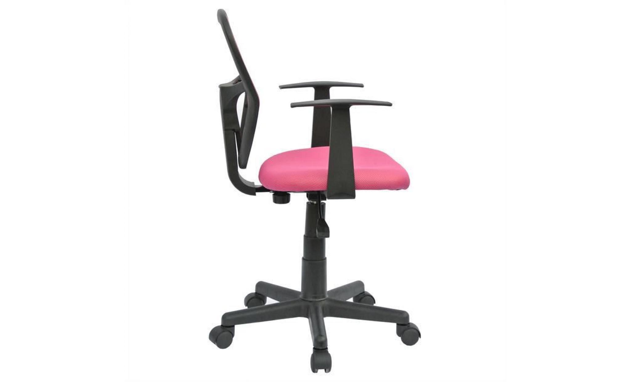 chaise de bureau pour enfant studio fauteuil pivotant et ergonomique avec  accoudoirs, siège à roulettes avec hauteur réglable, vert