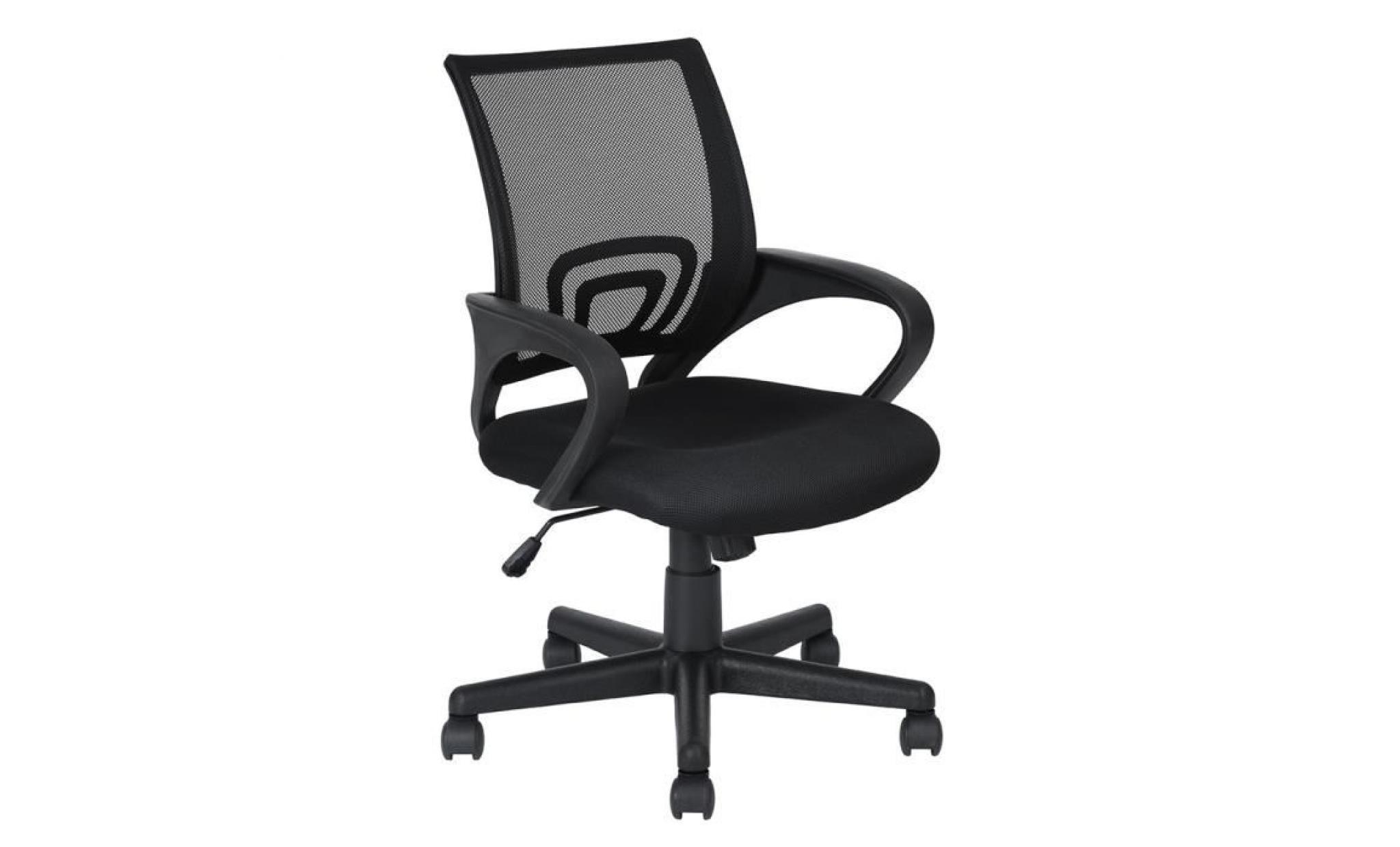 Fauteuil 104cm De Pp Pivotant 360 Bureau Chaise 59 Confortable Réglable 92 Réseau 58 Noir À Plastique wOkZiTPXul