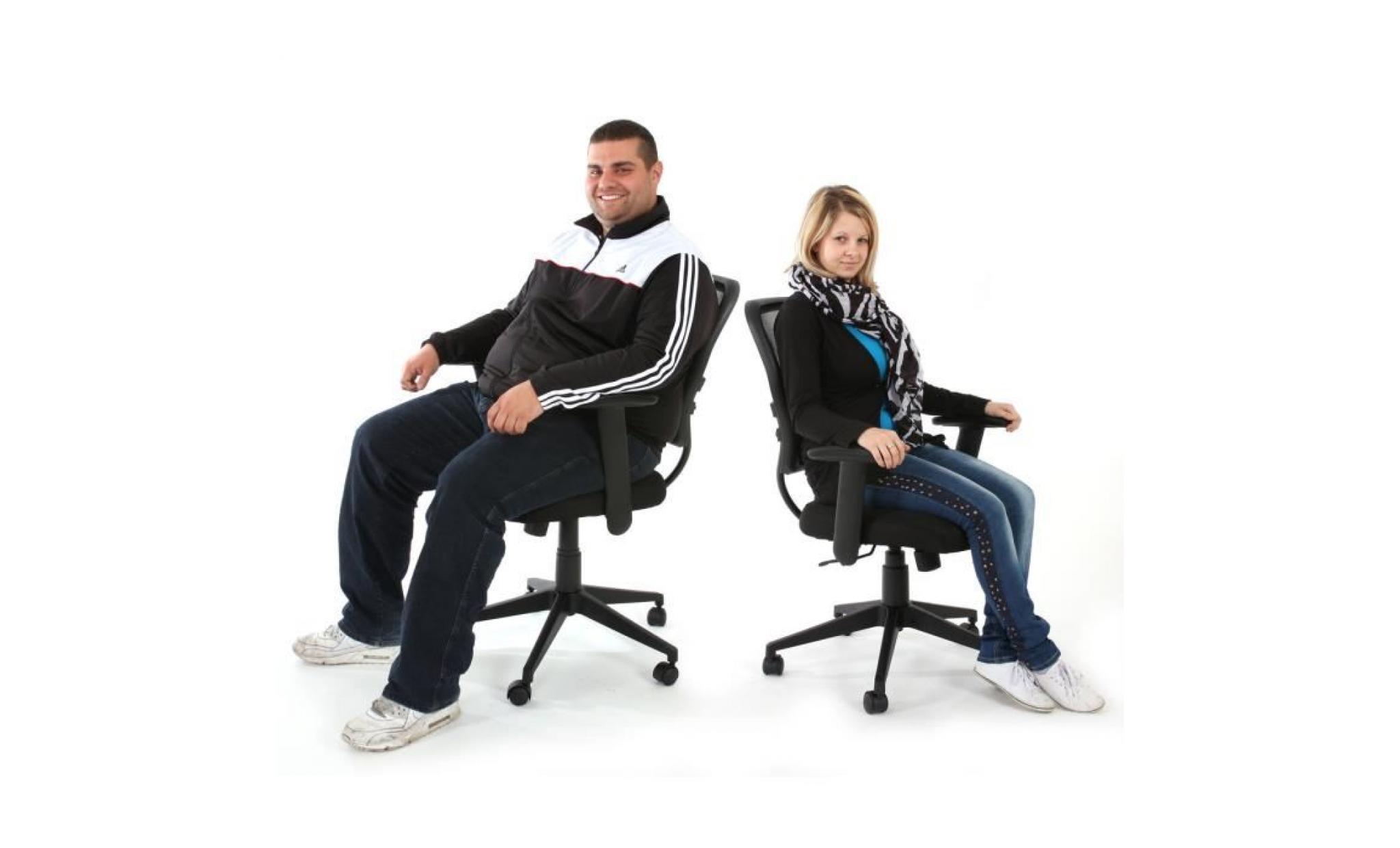 Fauteuil chaise de bureau seattle charge 150kg pu gris for Chaise 150 kg
