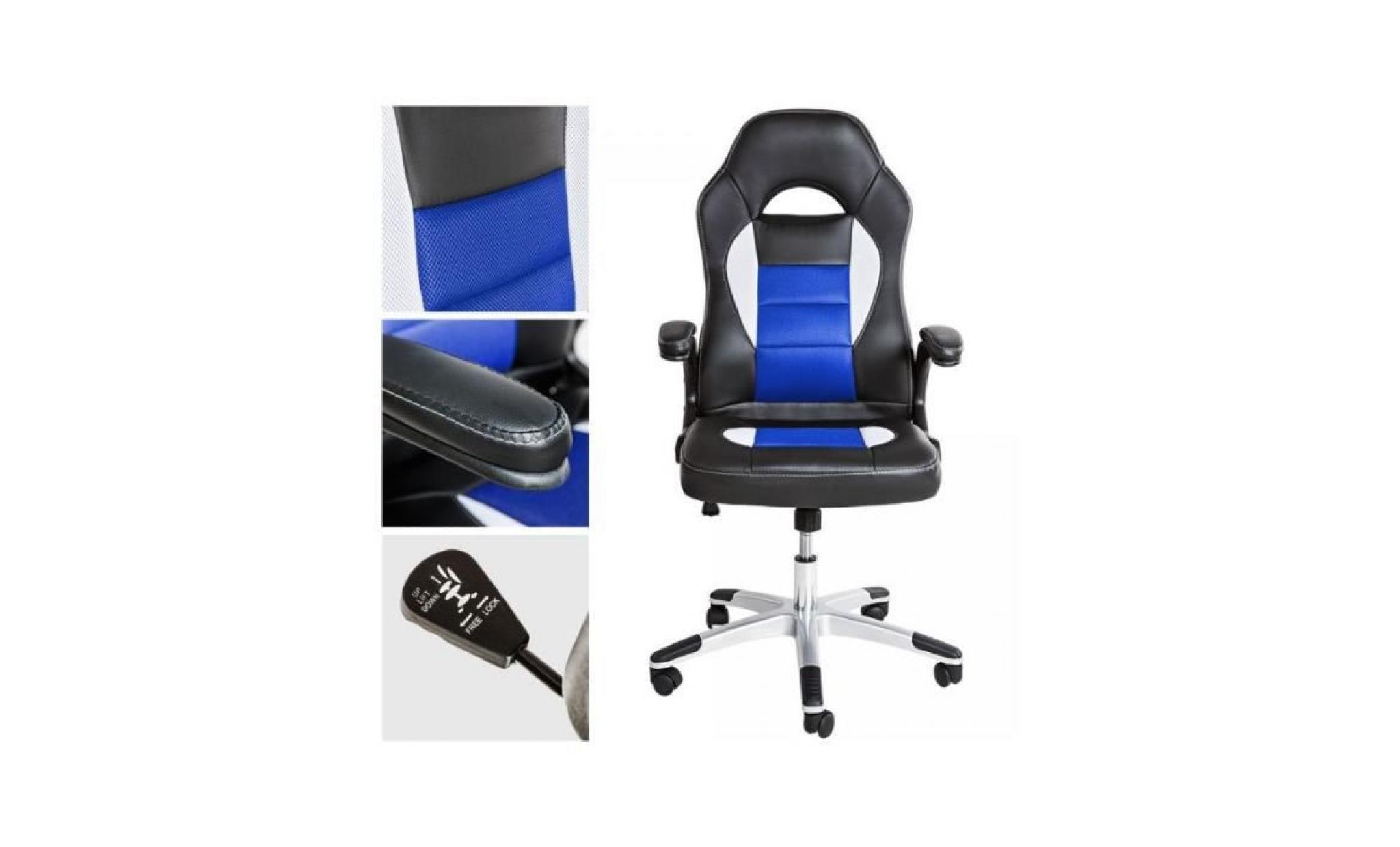 fauteuil chaise de bureau sport ergonomique 0508017 achat vente fauteuil de bureau pas cher. Black Bedroom Furniture Sets. Home Design Ideas