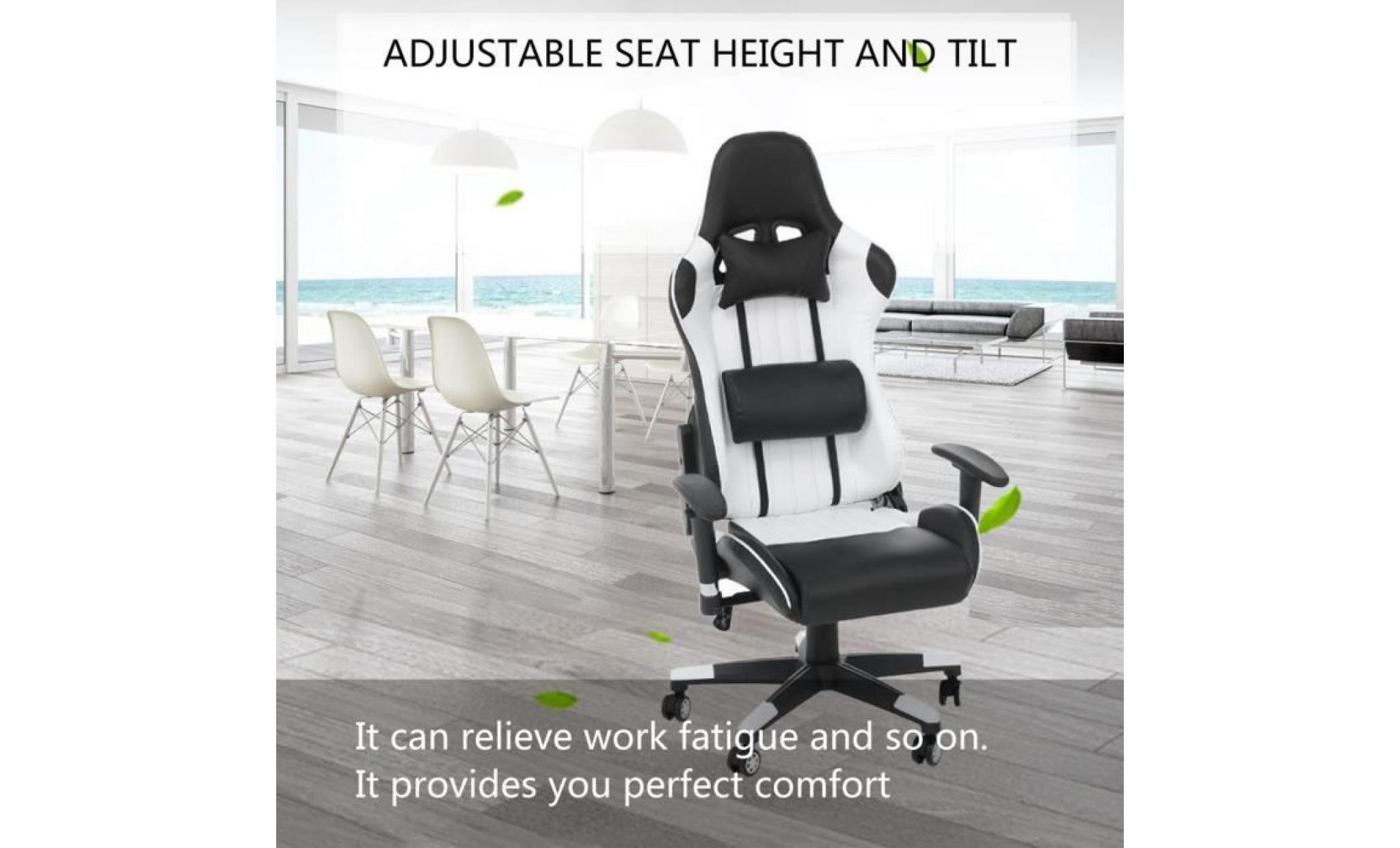 Bureau De Avec Chaise 360 Roulettes Super Blanc Confortable Fauteuil Style Degrés À Contemporain Jeu tsChQxrd
