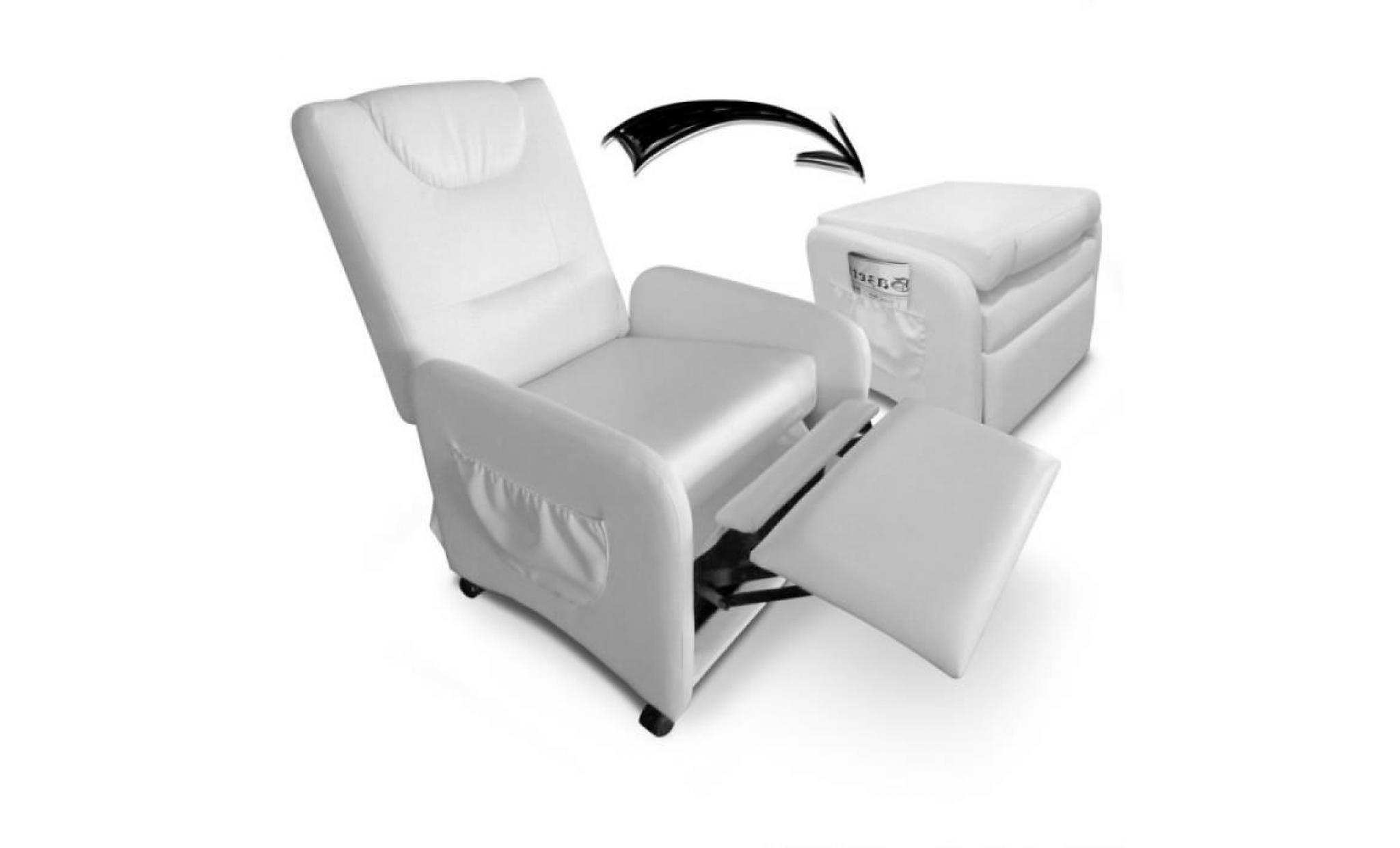 Relax Fauteuil Design.Fauteuil Design Relax Pliable Enjoy 64cm Blanc Achat Vente