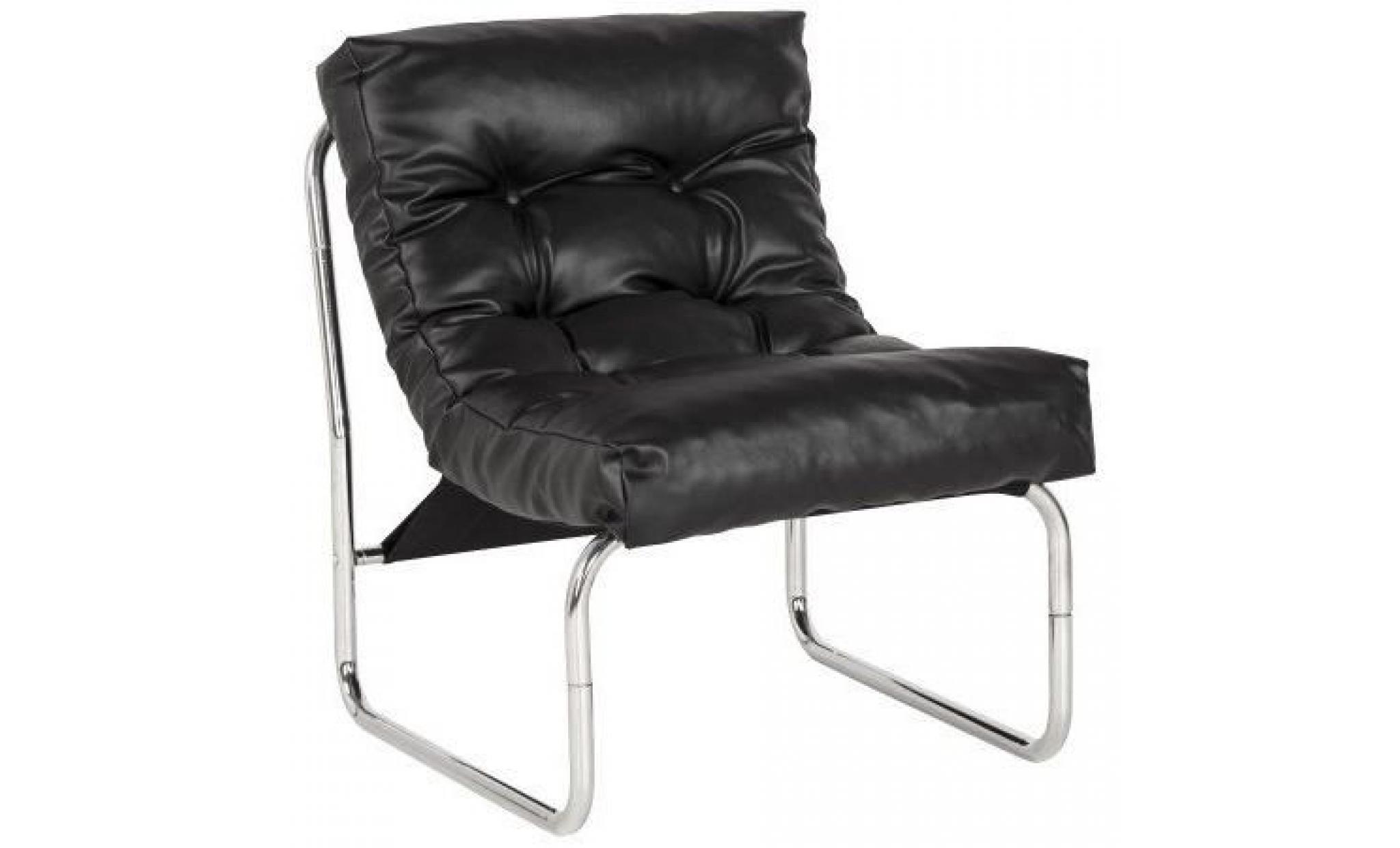 fauteuil lounge 39 fado 39 noir achat vente fauteuil pas cher couleur et. Black Bedroom Furniture Sets. Home Design Ideas