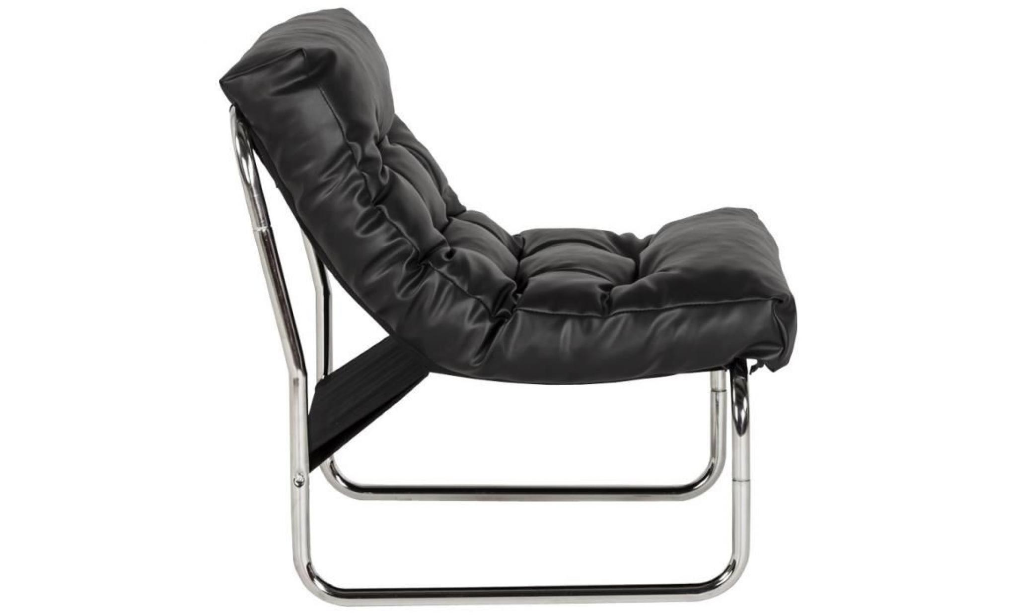 Fauteuil lounge 39 fado 39 noir achat vente fauteuil pas cher couleur - Fauteuil noir pas cher ...