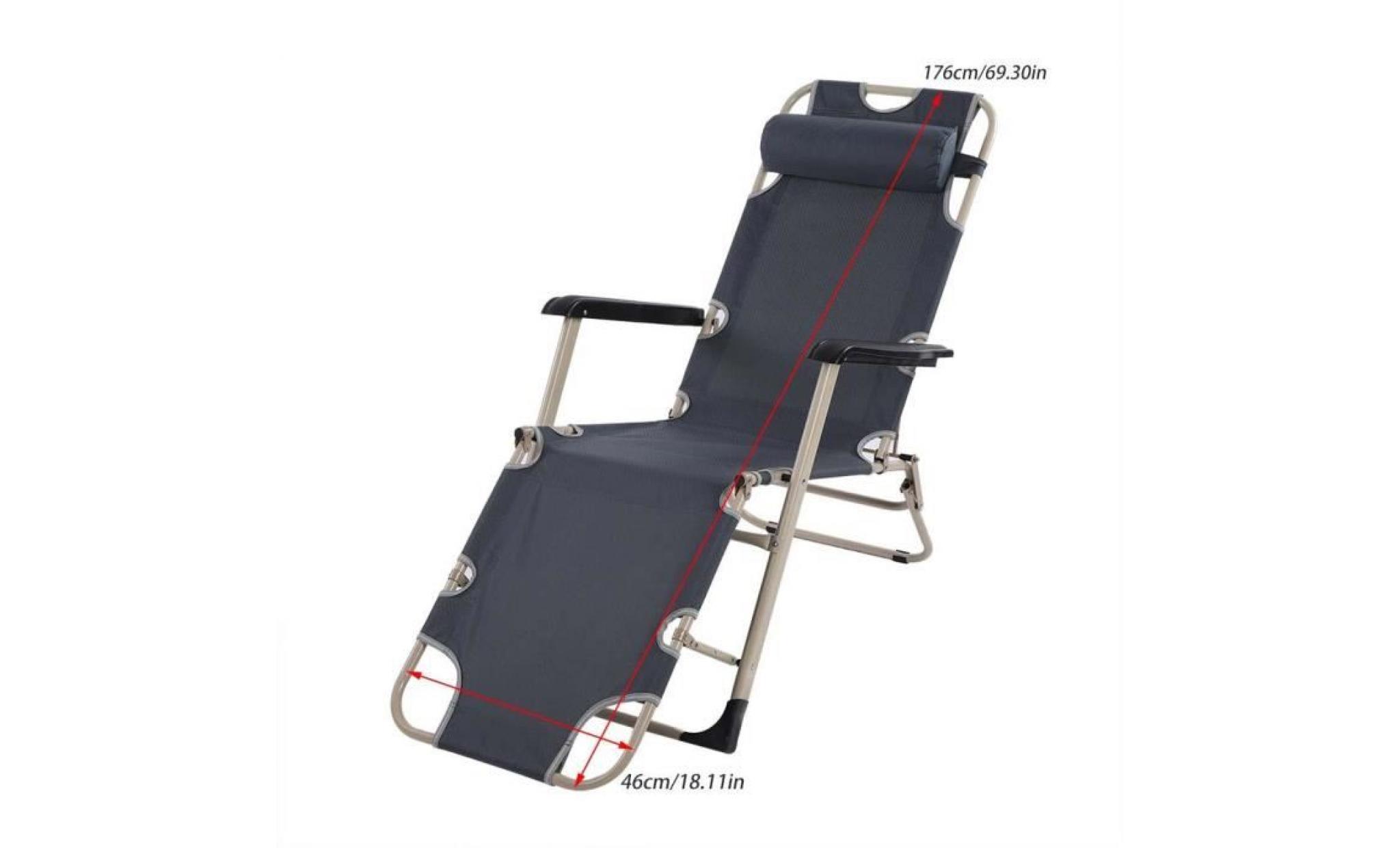 Pliant Lounge Chaise Accoudoir Fauteuil Vacances Inclinable D'extérieur Longue Camping Salon Avec wm8nyN0Ov