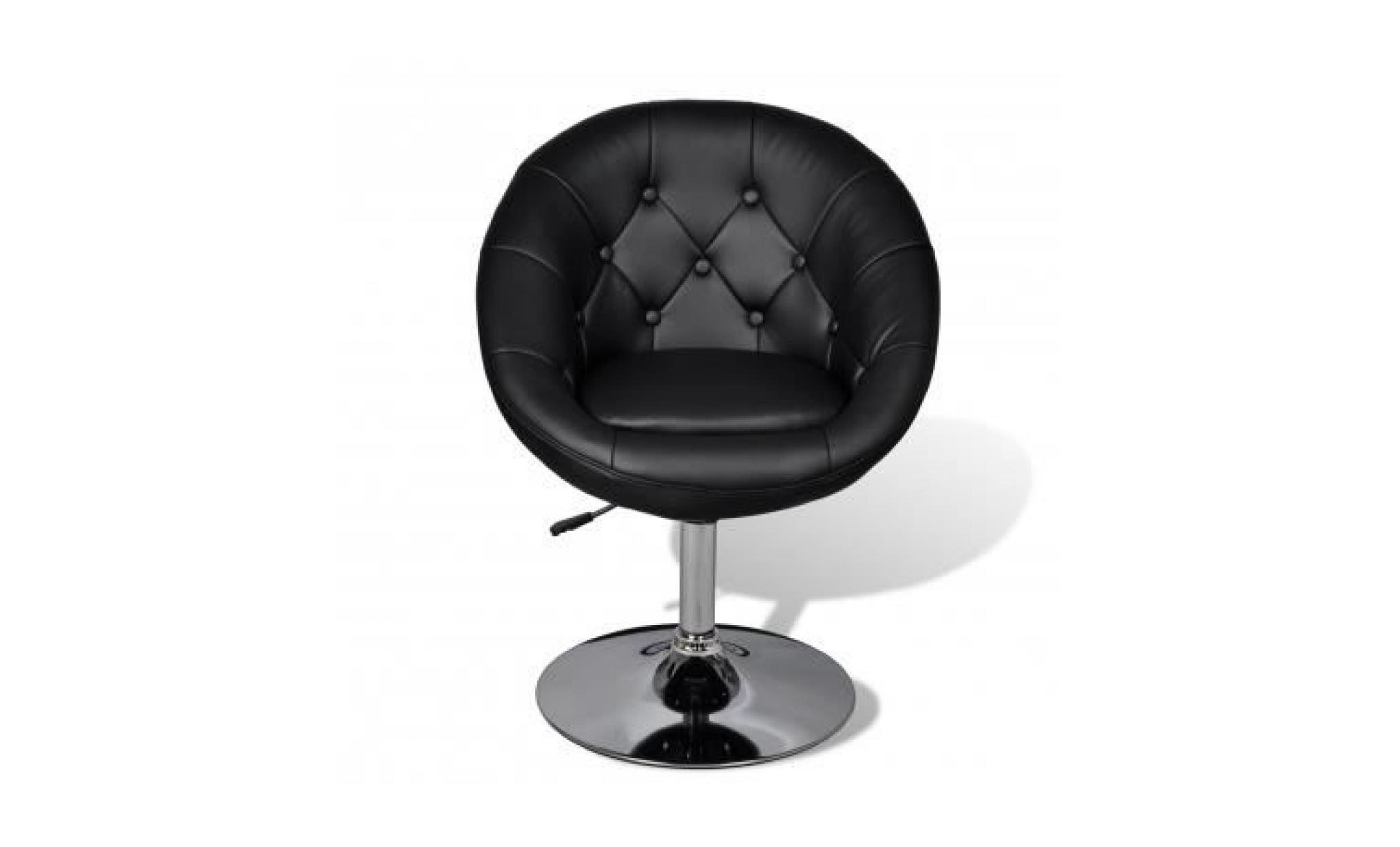 fauteuil r tro capitonn noir pied tulipe chrom achat. Black Bedroom Furniture Sets. Home Design Ideas