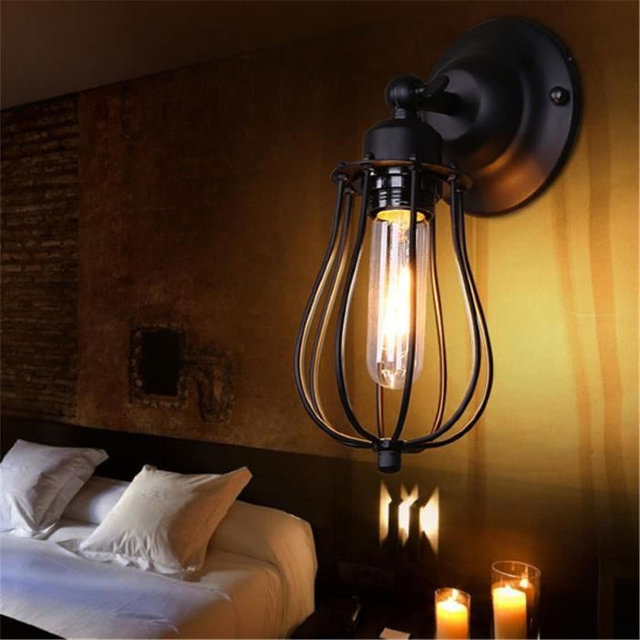ferandhome antique applique murale feu lampe de mur. Black Bedroom Furniture Sets. Home Design Ideas
