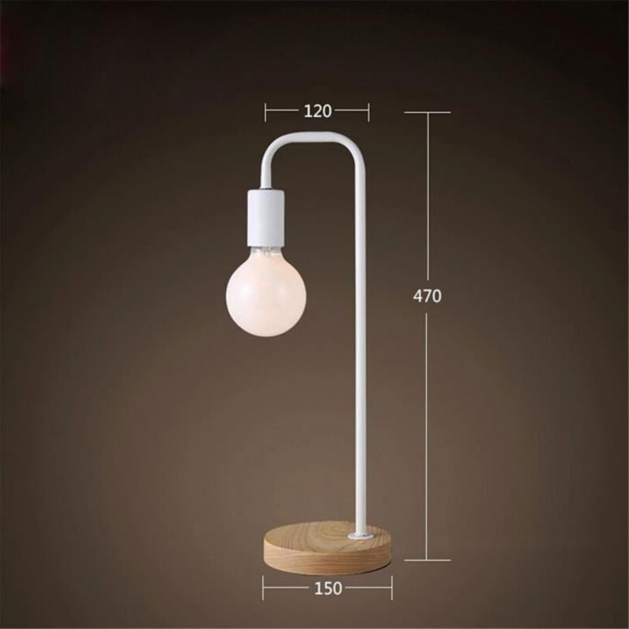 ferandhome lampe de table chevet m tallique moderne lumi re pour etude lecture bureau chambre. Black Bedroom Furniture Sets. Home Design Ideas