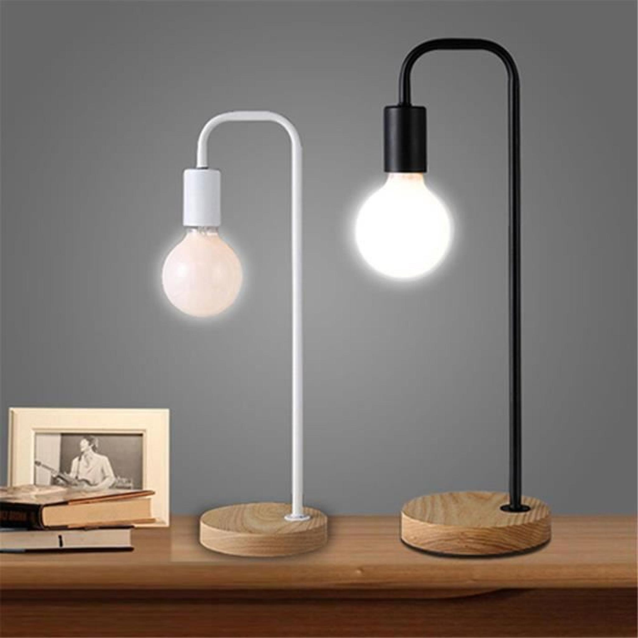 ferandhome lampe de table chevet m tallique moderne lumi re pour etude lecture bureau chambre. Black Bedroom Furniture Sets. Home Design Ideas