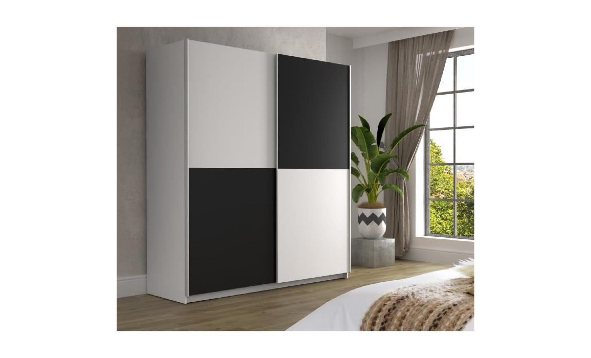 finlandek armoire de chambre ulos style contemporain blanc l 170,3 cm