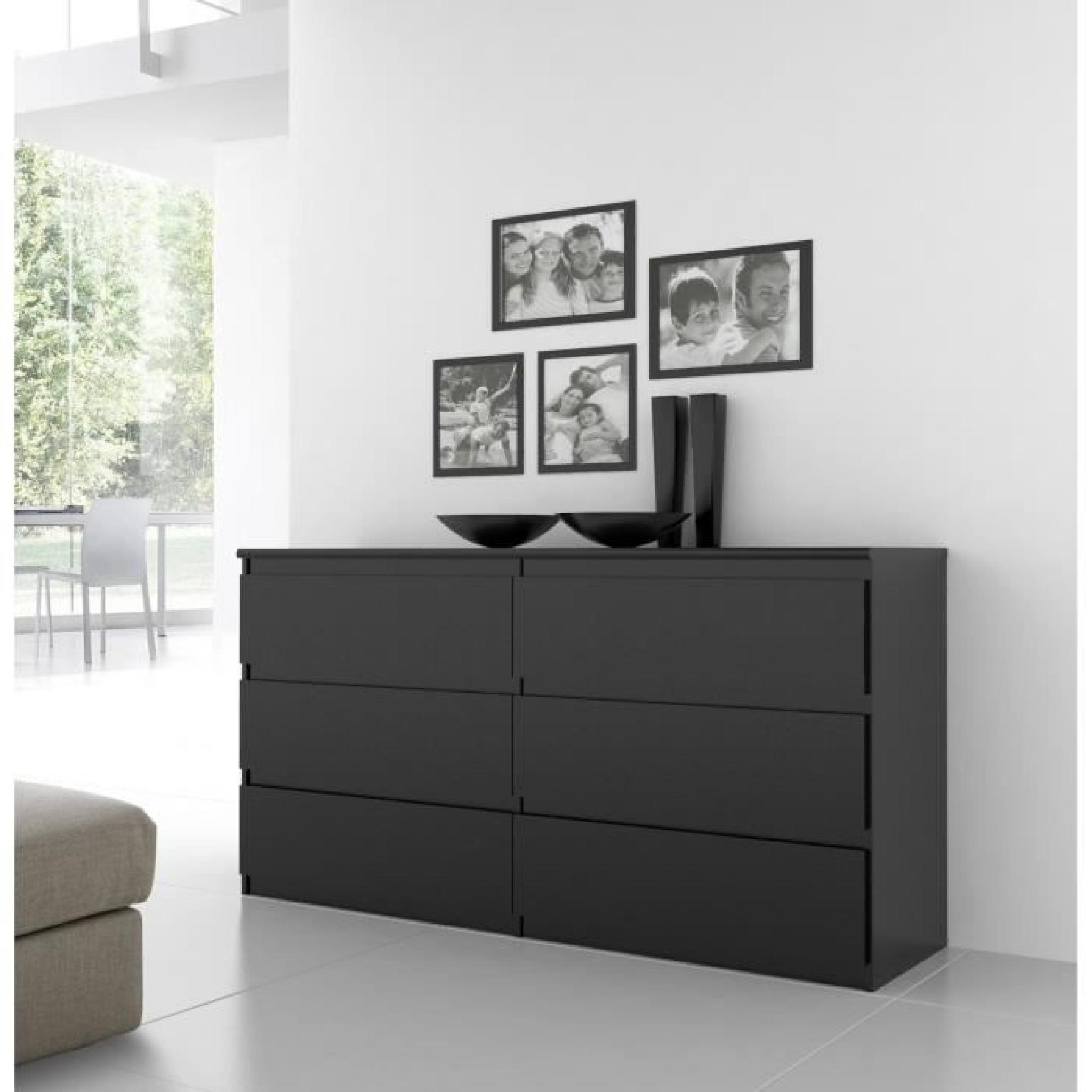 finlandek commode natti 154cm noir achat vente commode. Black Bedroom Furniture Sets. Home Design Ideas