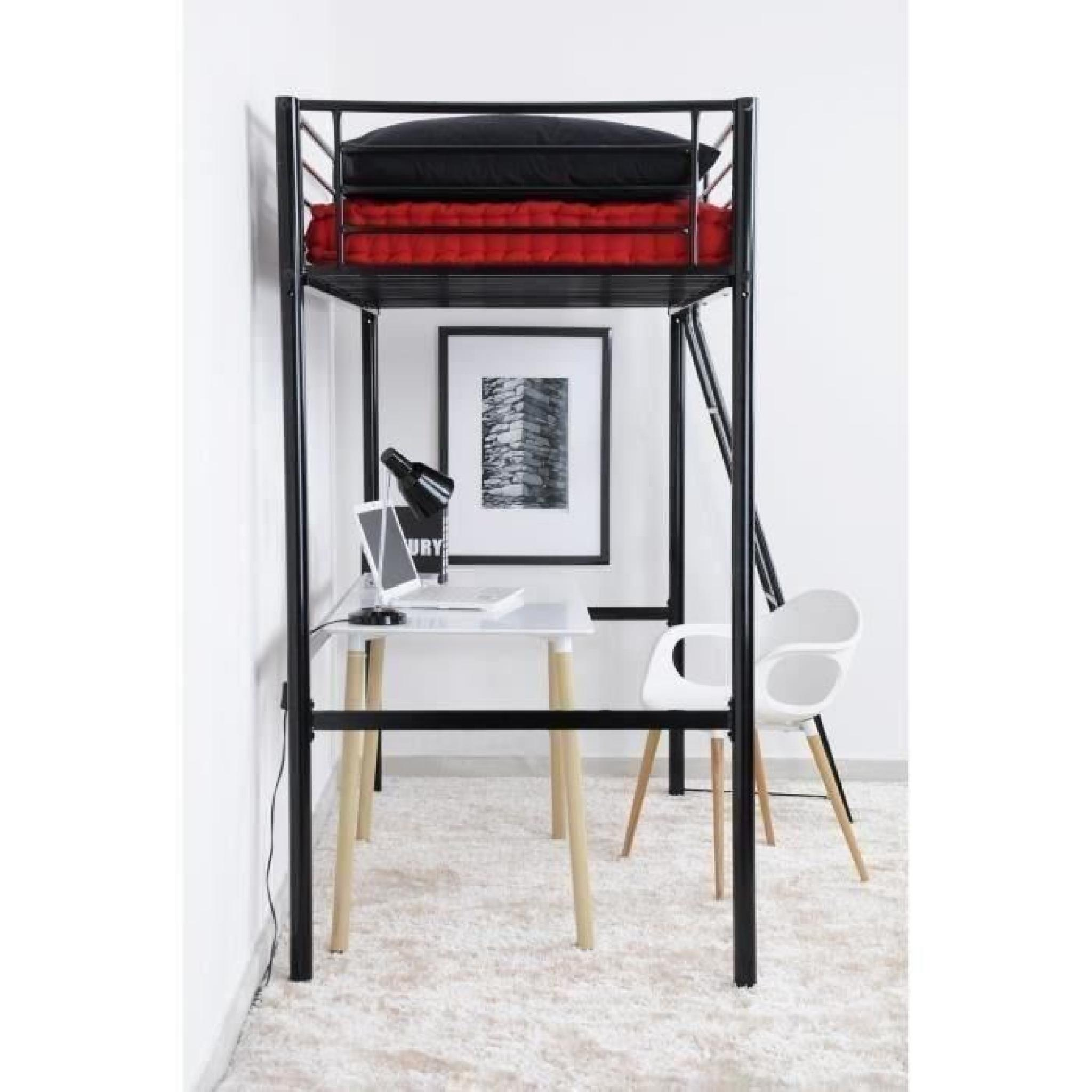 lit mezzanine adulte solide affordable lit mezzanine adulte et ides de rangement pour la. Black Bedroom Furniture Sets. Home Design Ideas