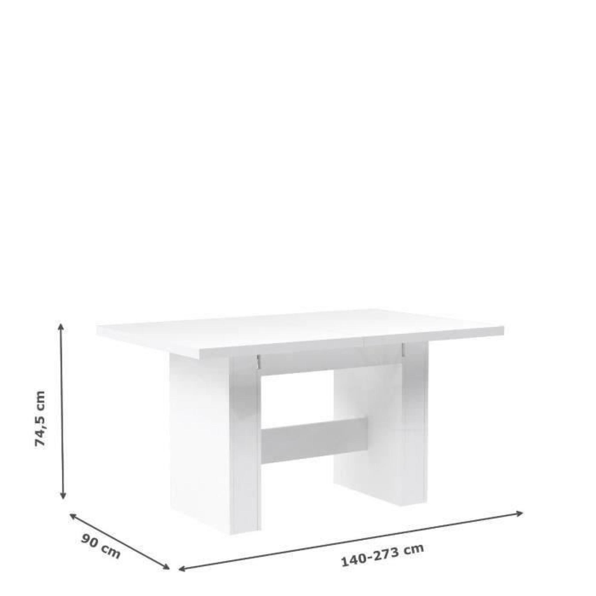 Finlandek table manger extensible kova 140 273x75cm for Table salle a manger extensible pas cher